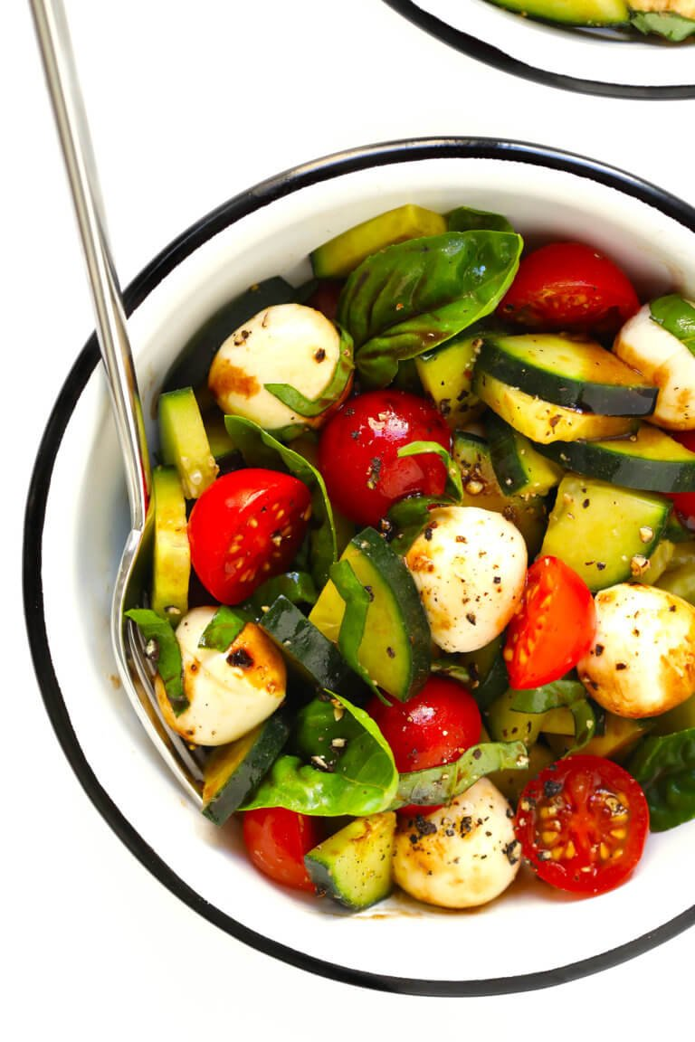 Caprese Salad Recipe Mozzarella Pearls