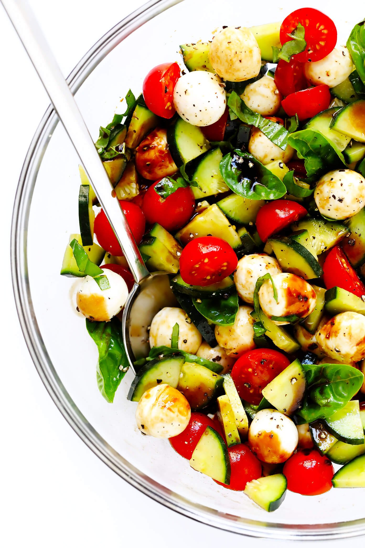 Cucumber Caprese Salad Or Pasta Salad Gimme Some Oven