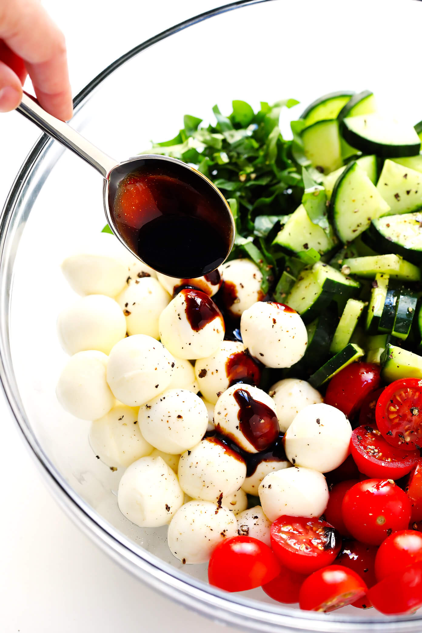 How To Make A Caprese Salad With Cucumber