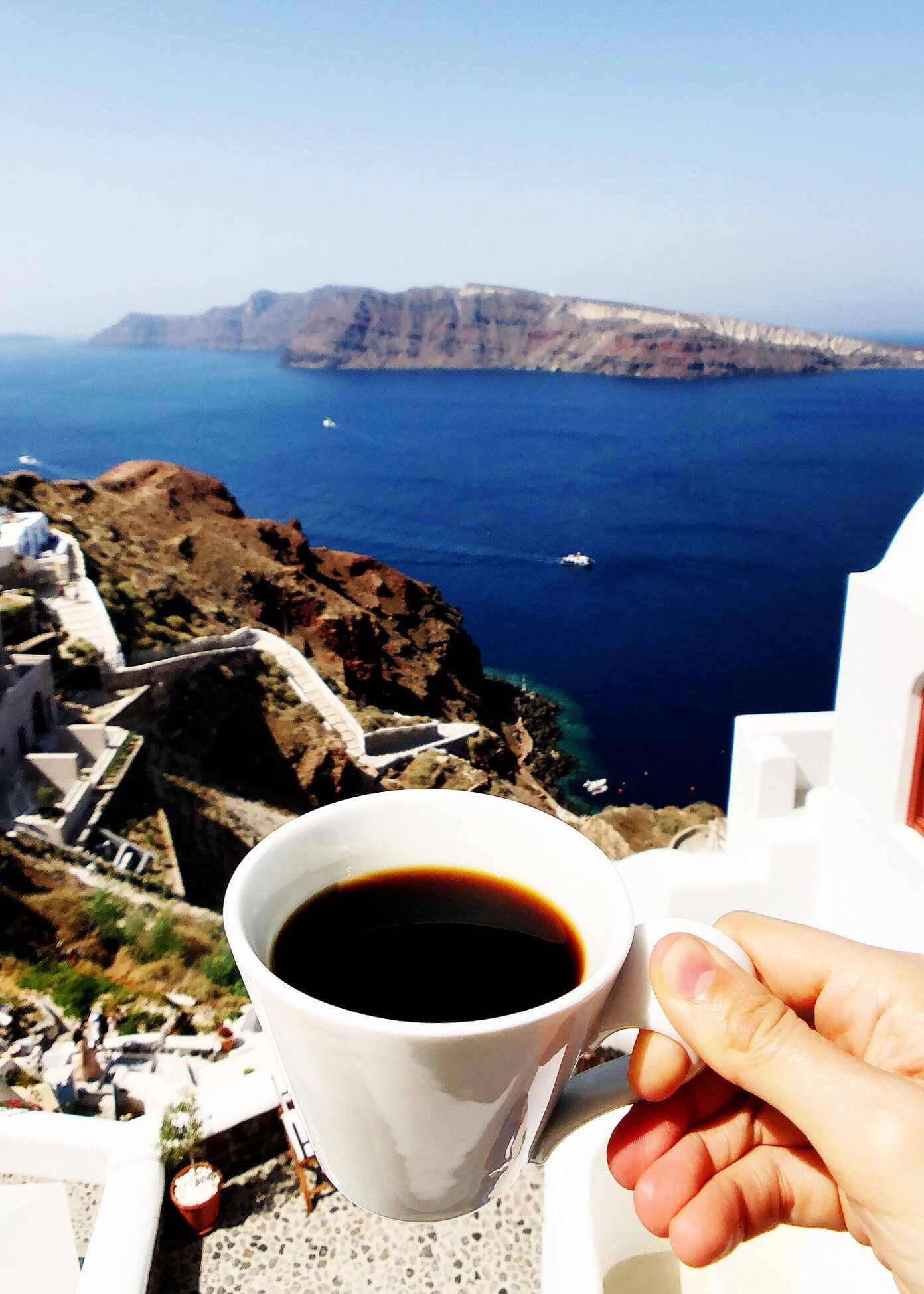 View at Oia Mare Villas in Santorini Greece
