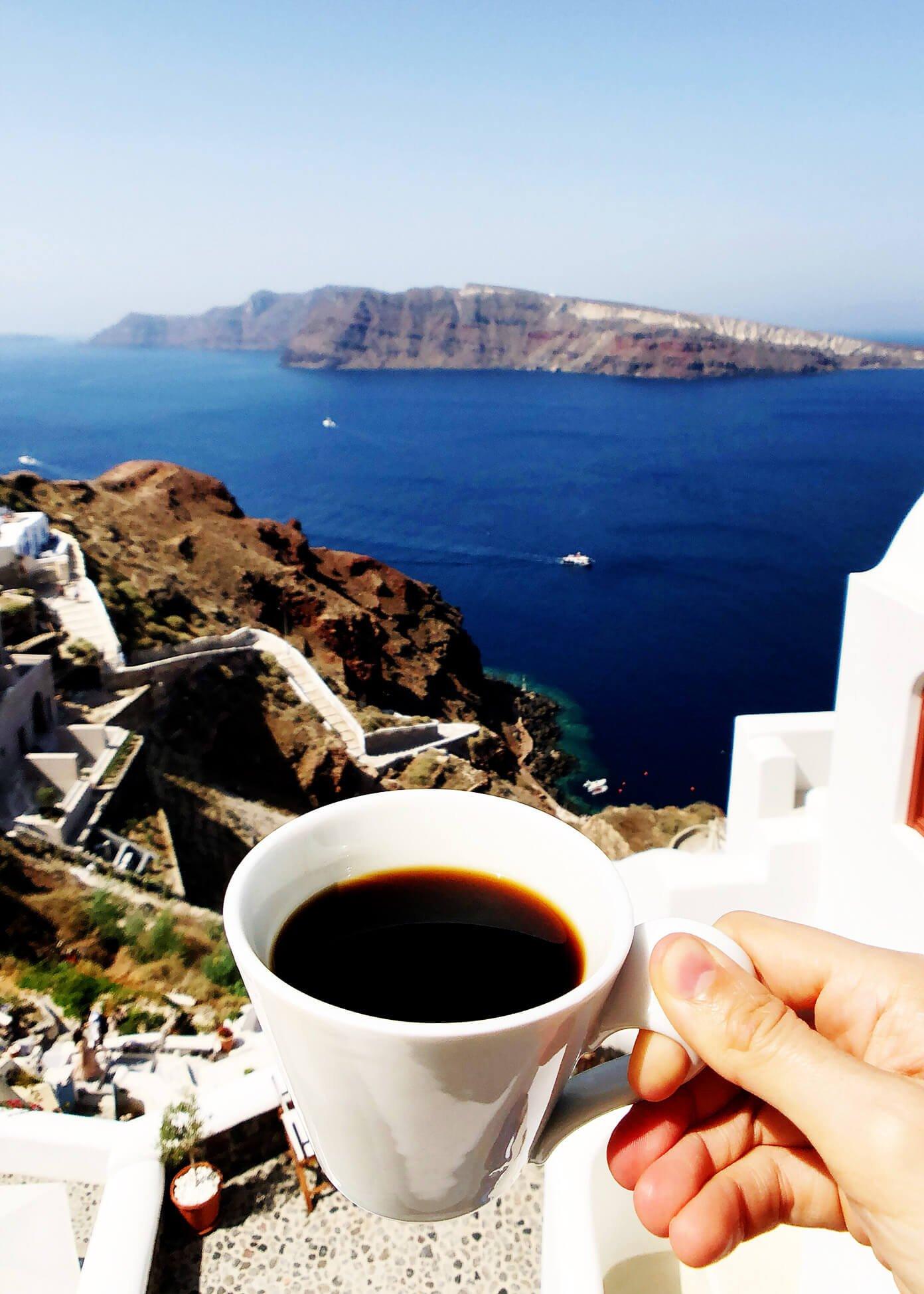 View at Oia Mare Villas in Santorini Greece