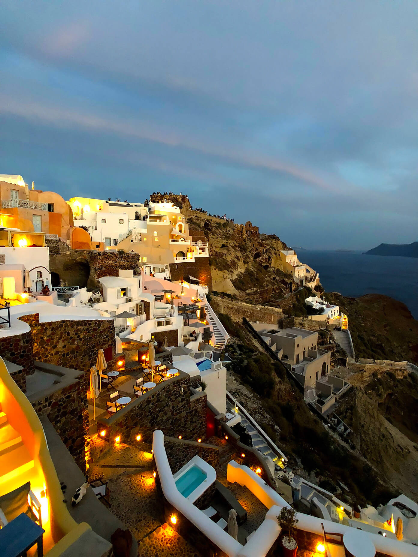 Sunset in Oia Santorini Greece