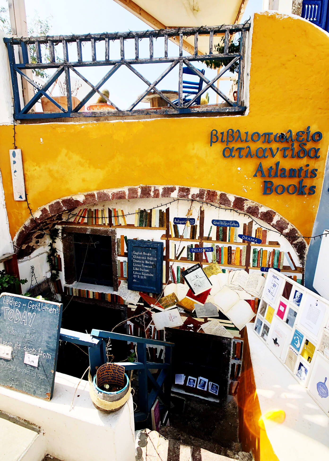 Atlantis Books in Oia Santorini Greece