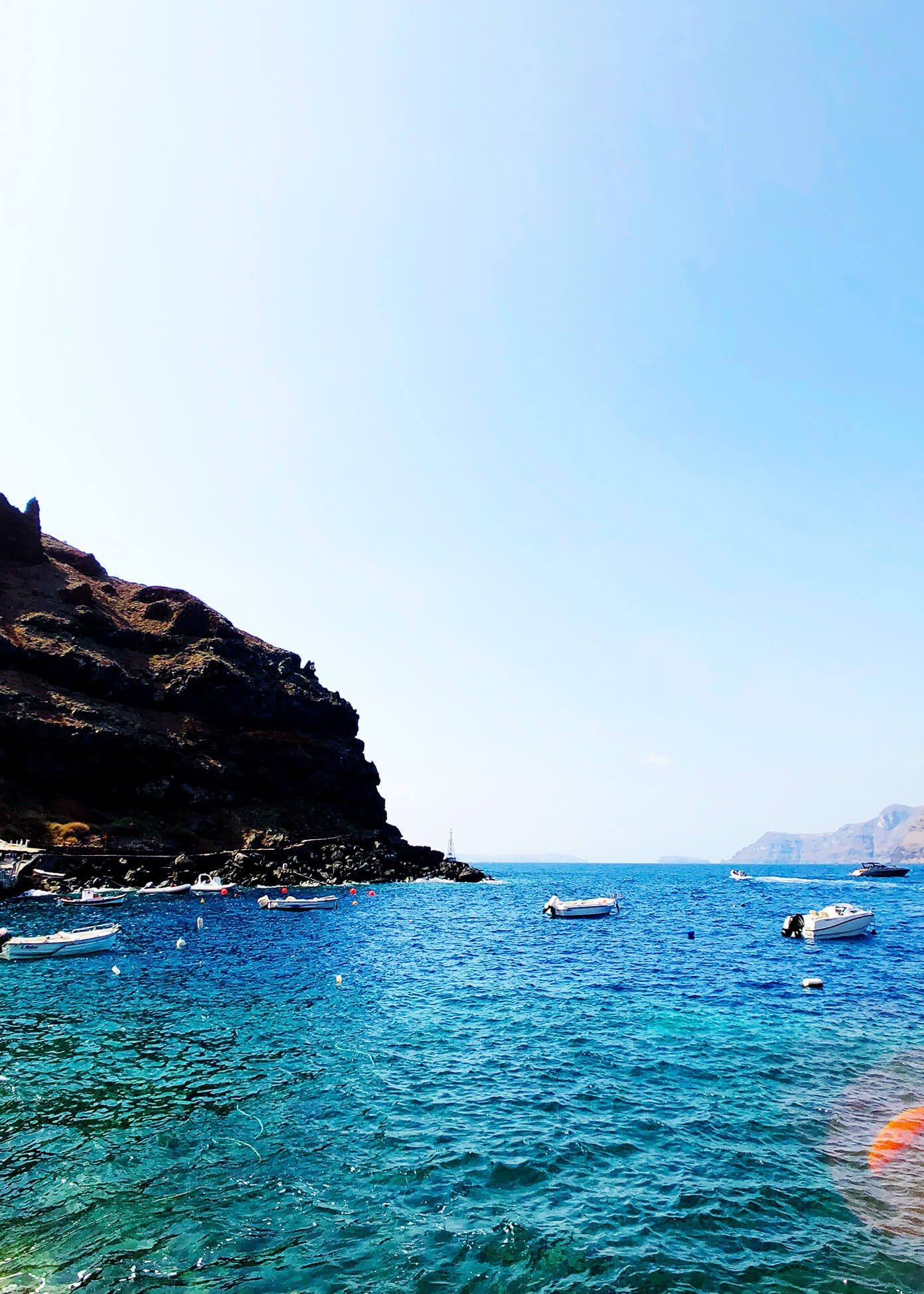 Ammoudi Bay Ocean Views in Oia Santorini Greece