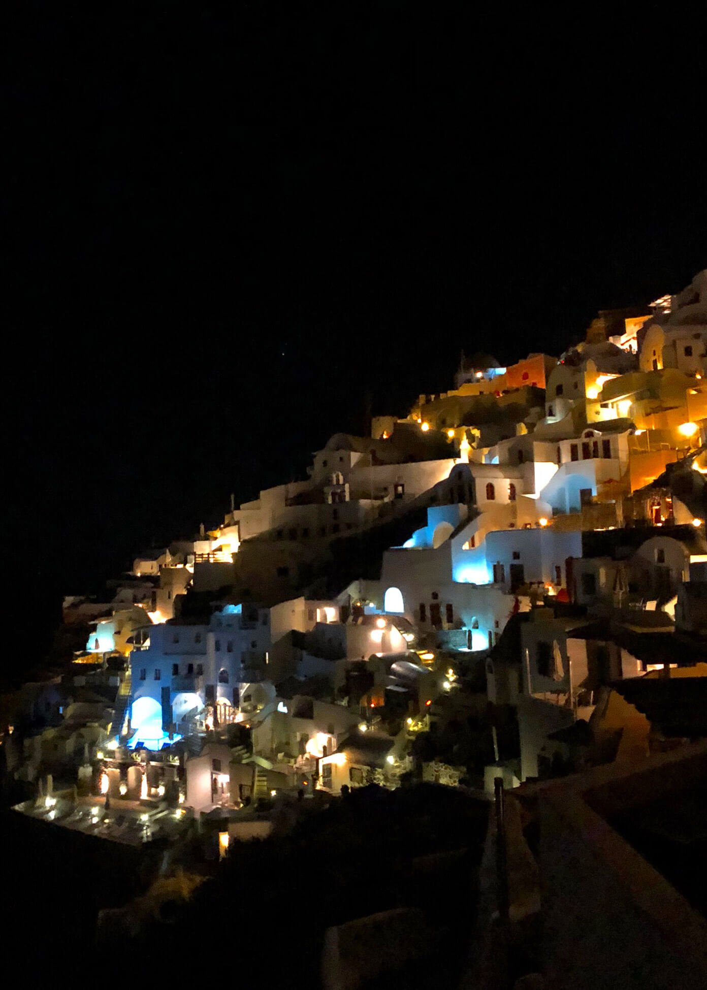 Night in Oia Santorini Greece