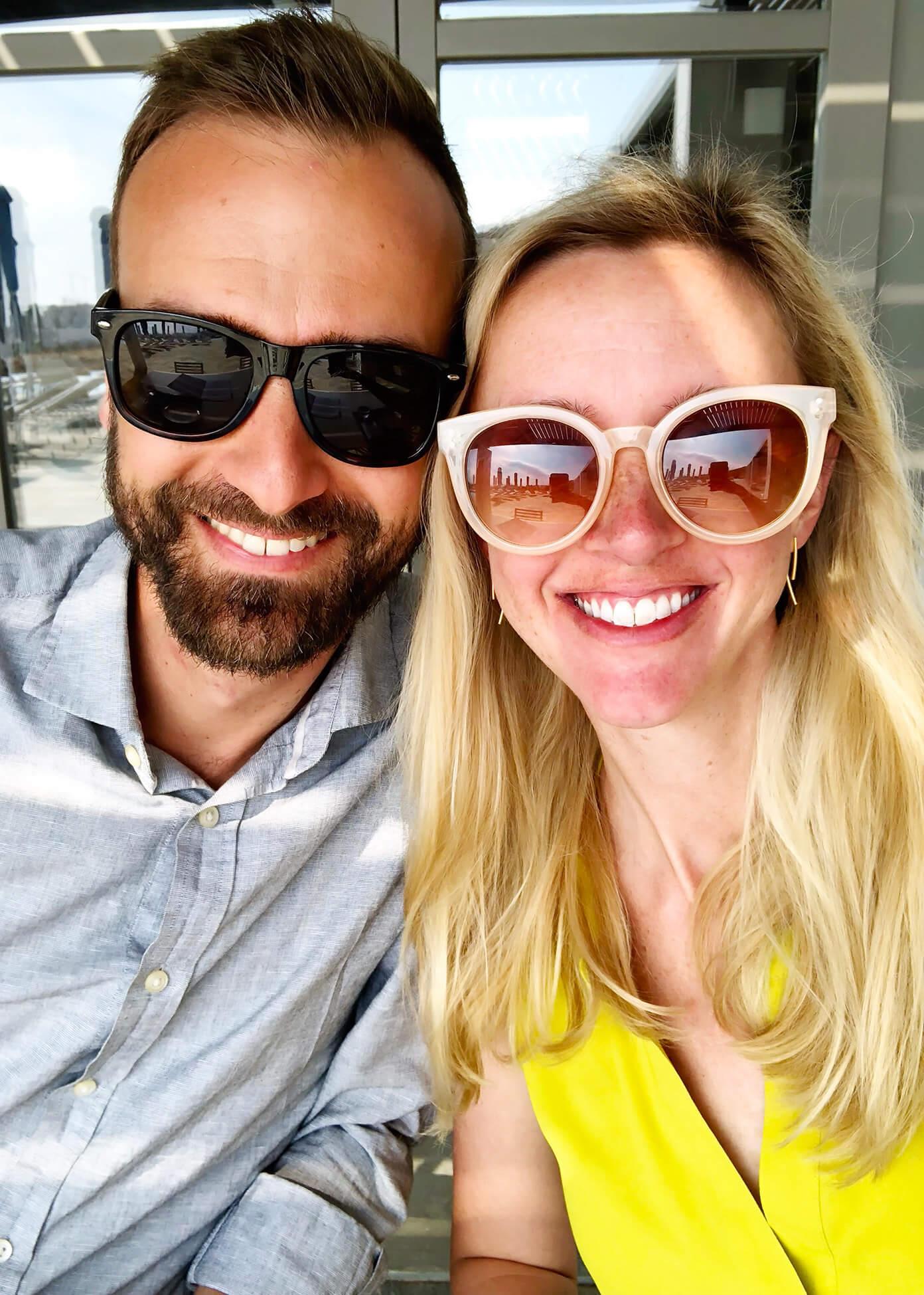 Barclay and Ali Martin in Folegandros, Greece