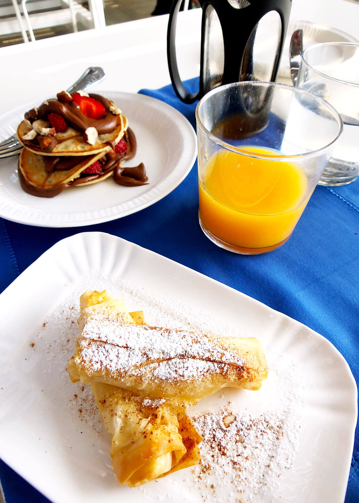 Breakfast at Anemi Hotel in Folegandros, Greece