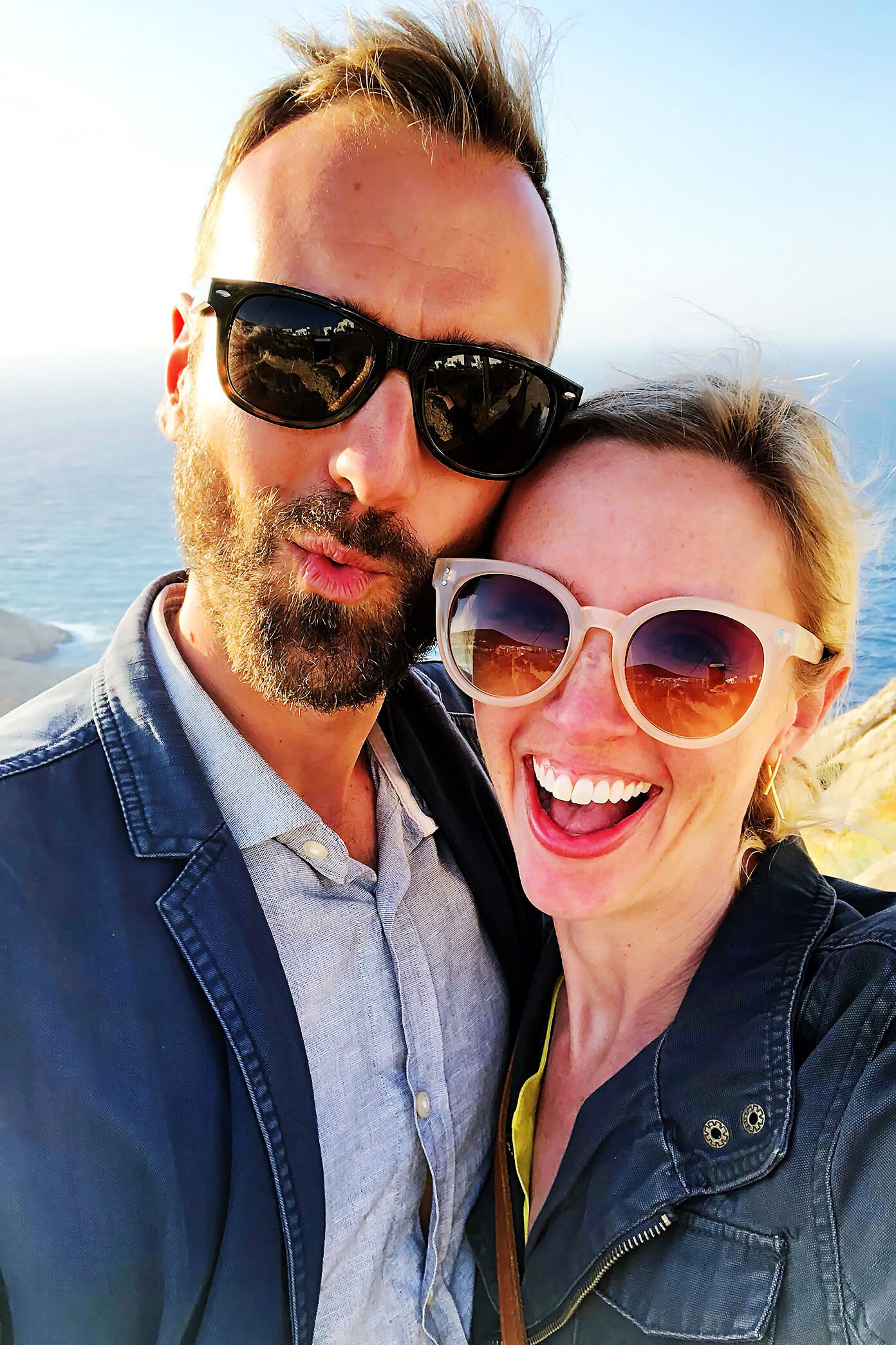 Ali and Barclay on Vacation in Santorini Greece