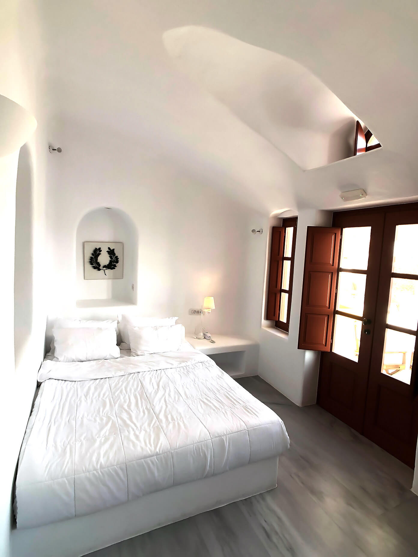 Hotel Room at Oia Mare Villas in Santorini Greece