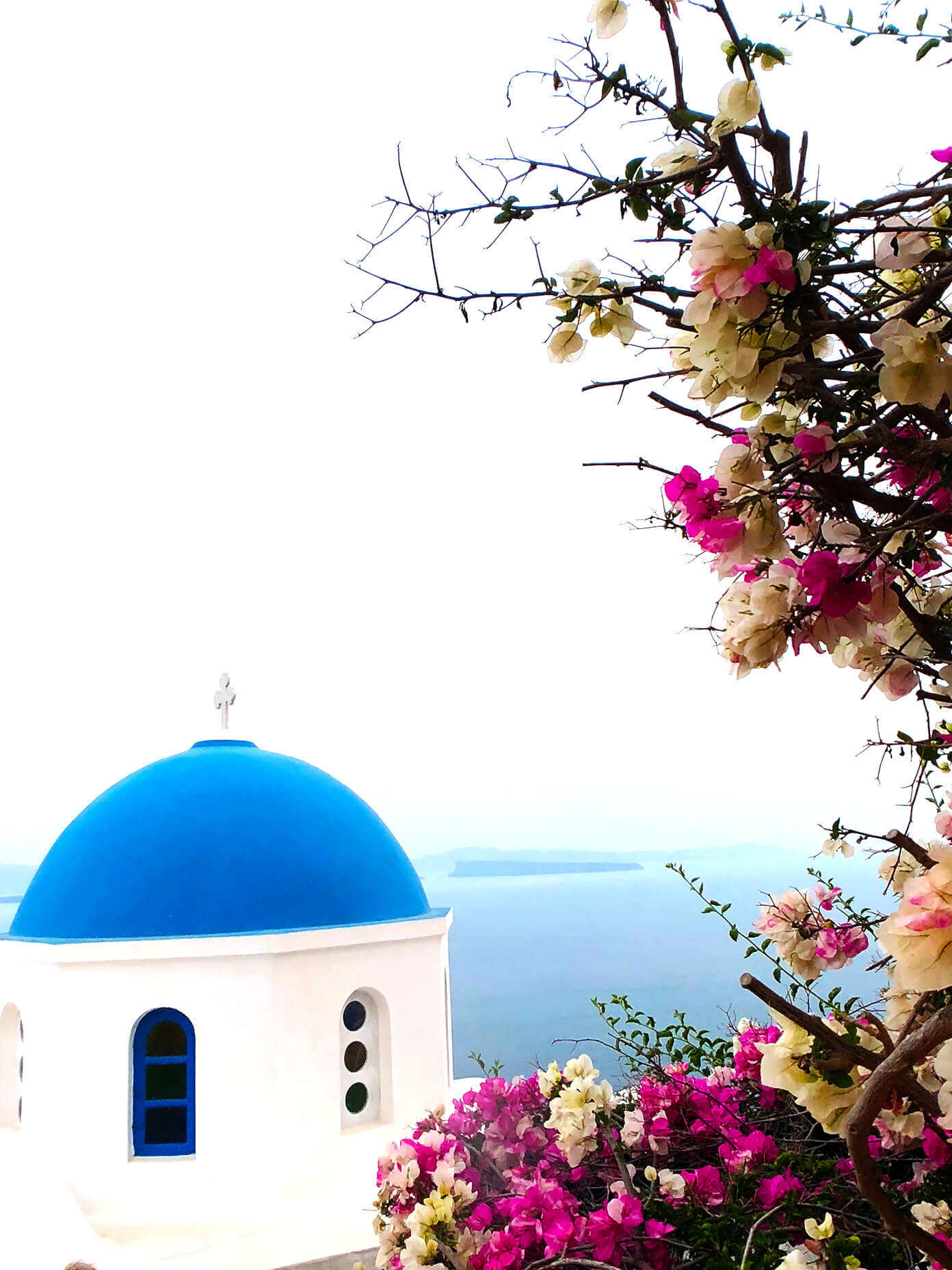 Blue Domes in Santorini Greece