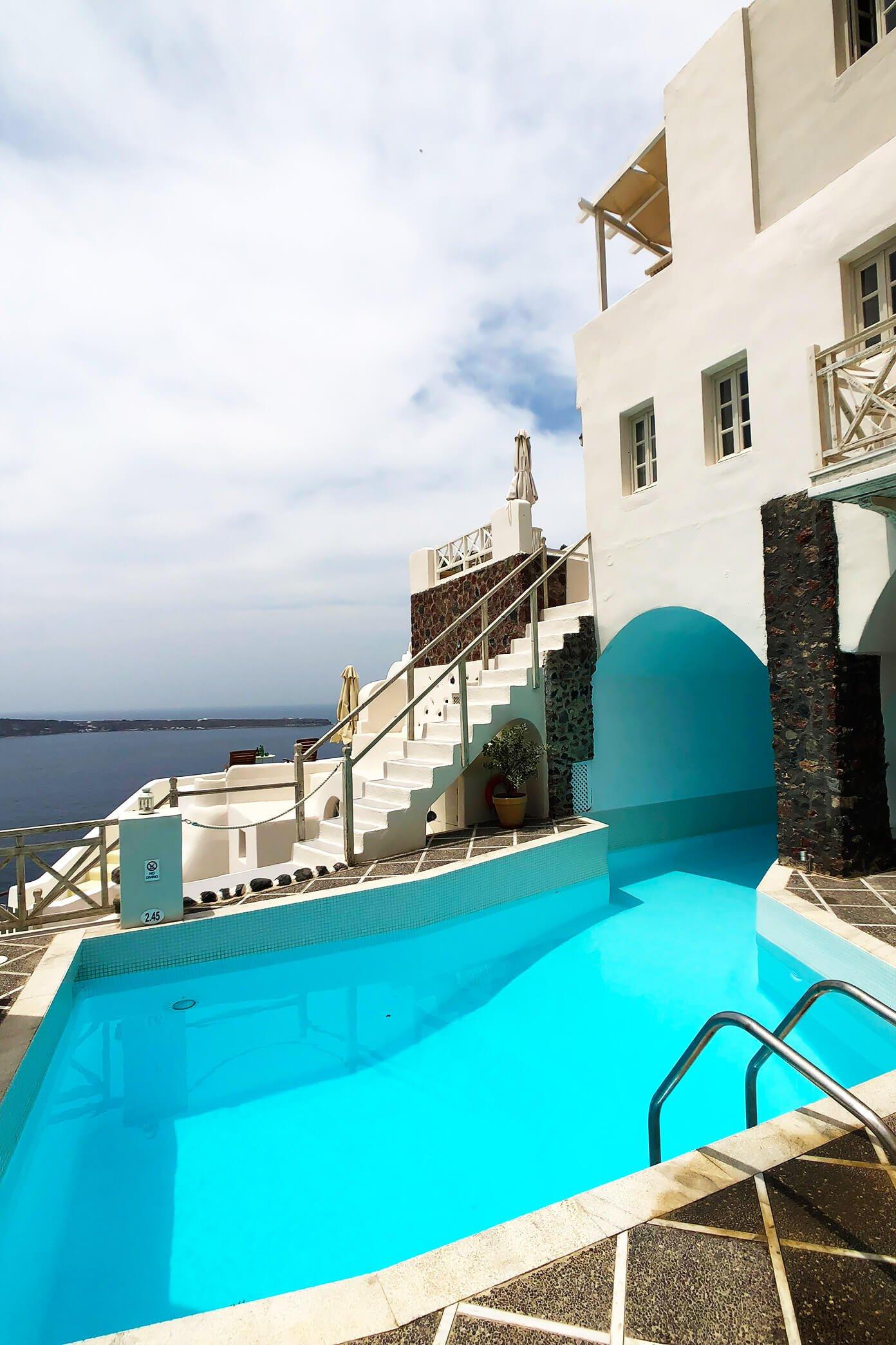 Swimming Pool at Oia Mare Villas Santorini Greece