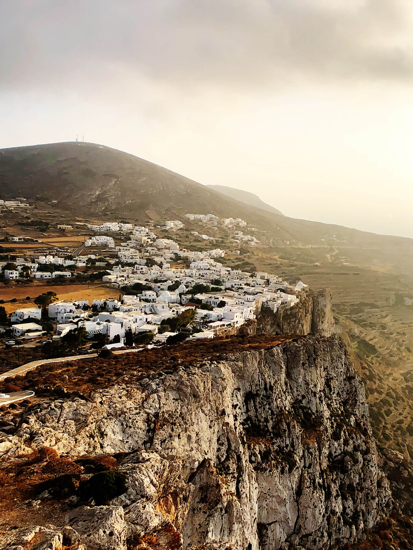 Sunset in Folegandros, Greece