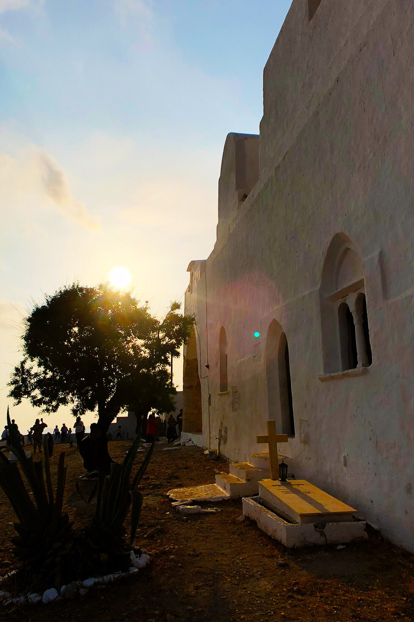 Sunset Church Views in Folegandros, Greece