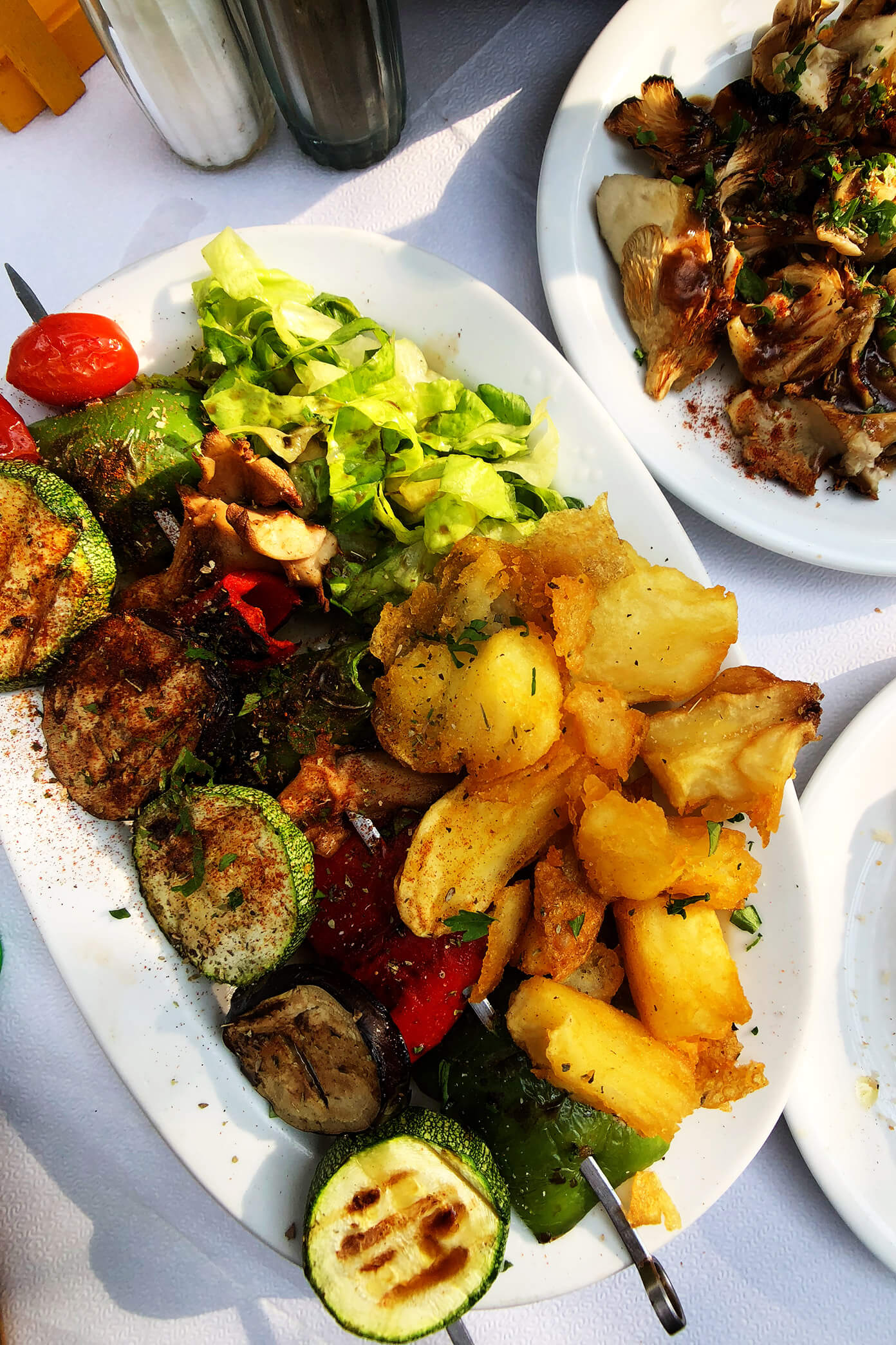 Vegan Souvlaki Vegetables at Melissa in Folegandros, Greece