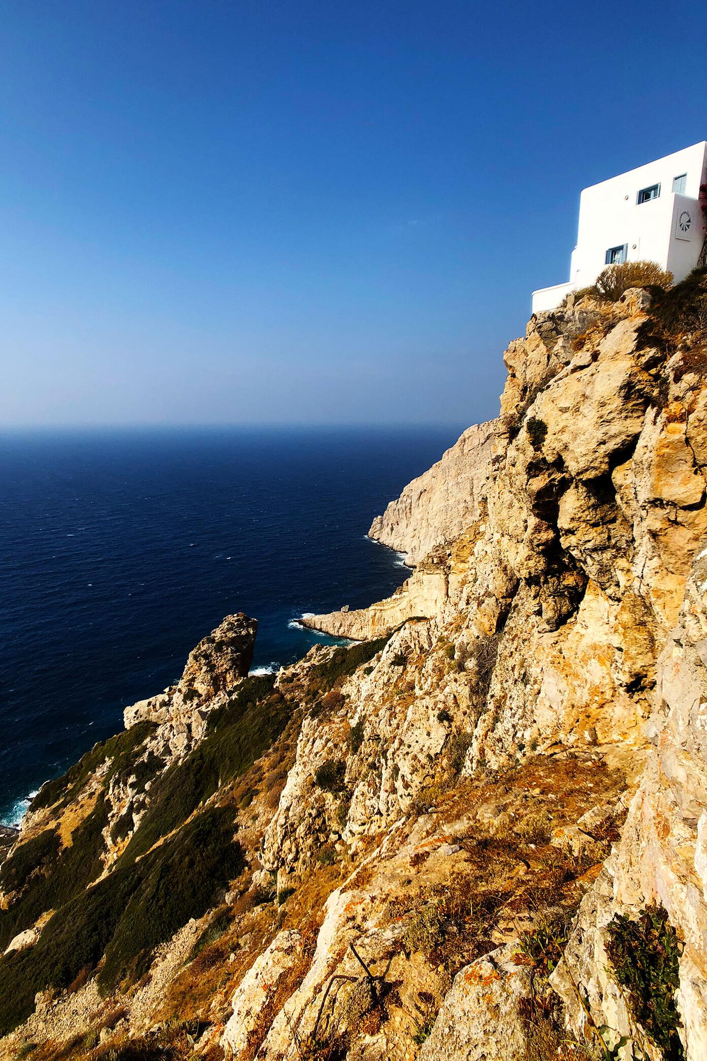 Cliffs in Folegandros, Greece