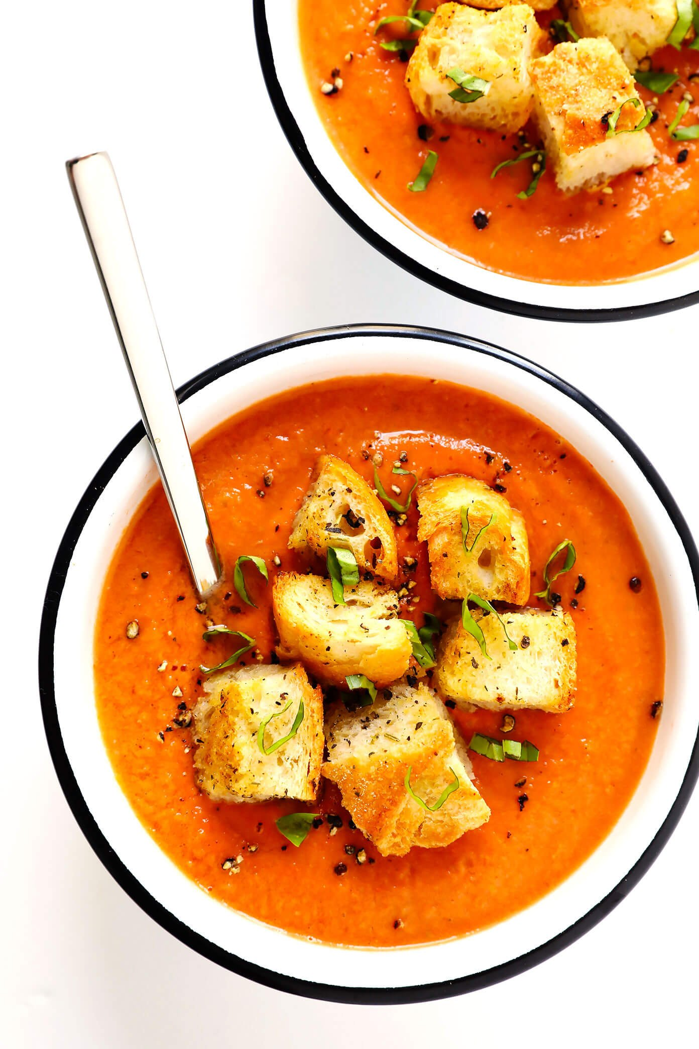 Authentic Gazpacho with Homemade Croutons