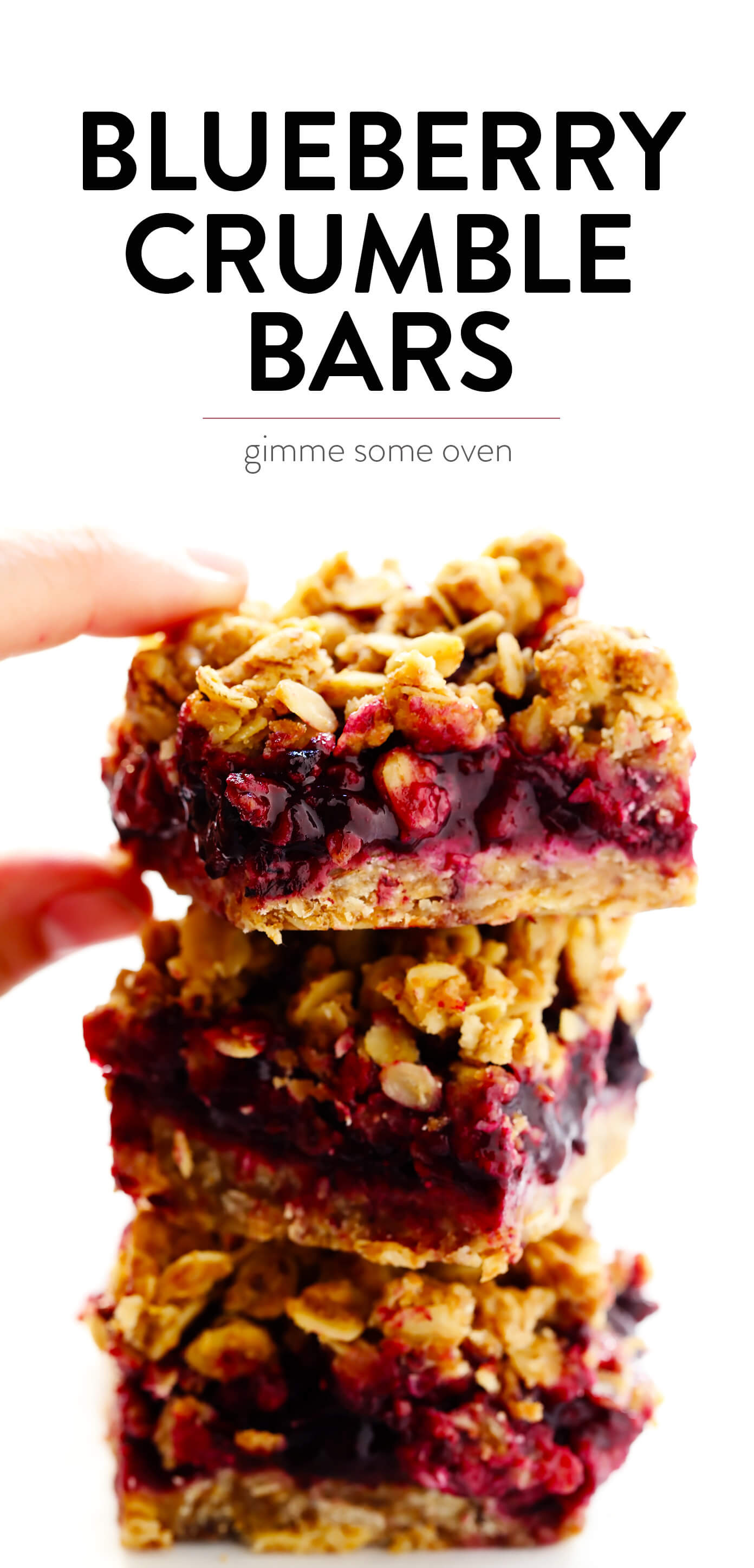 Blueberry Crumble Bars Recipe from Gimme Some Oven