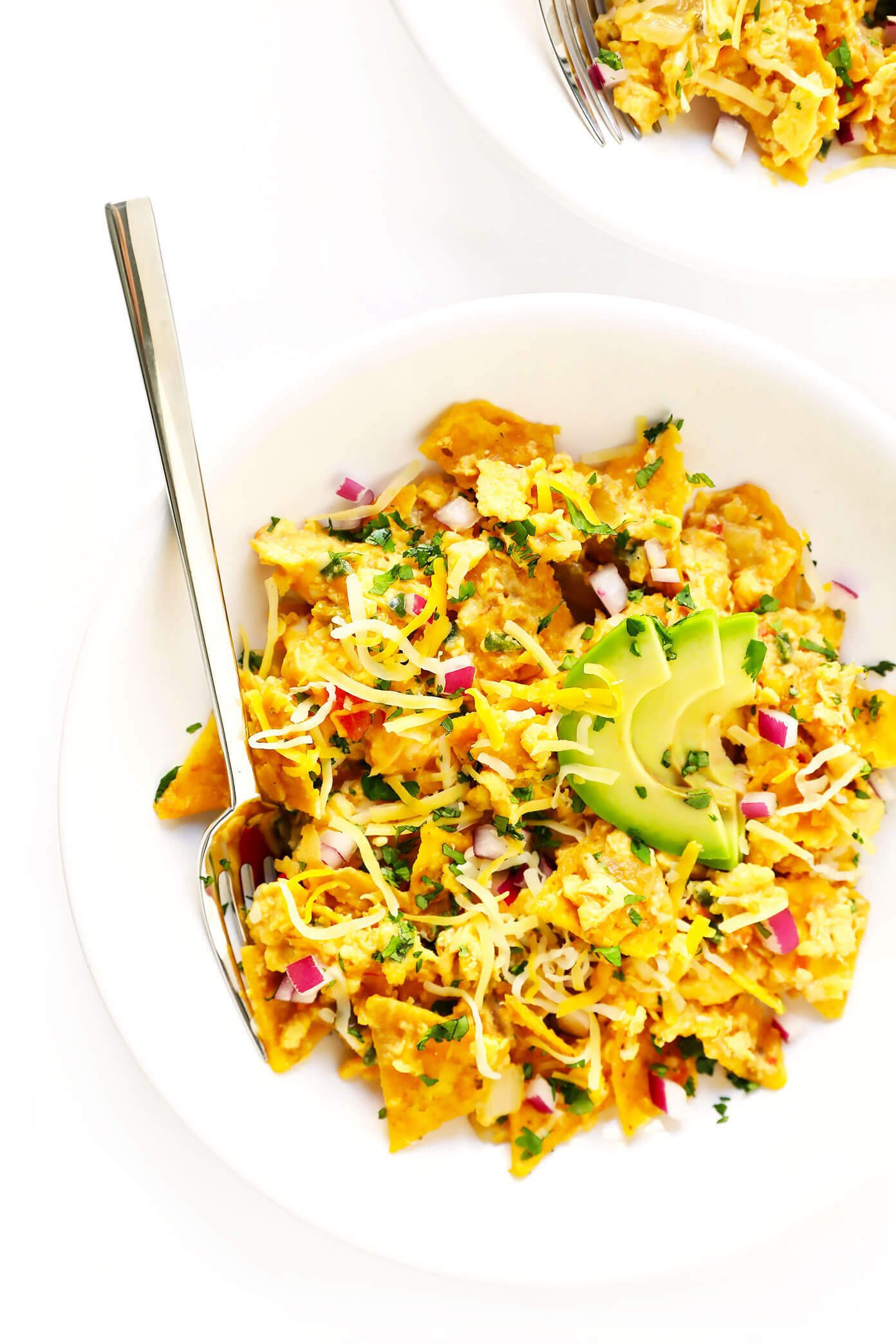 Tex-Mex Migas Recipe with Avocado