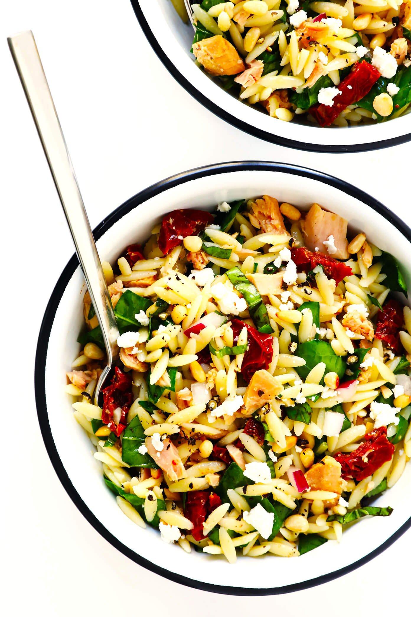 Italian Orzo Tuna Salad Recipe