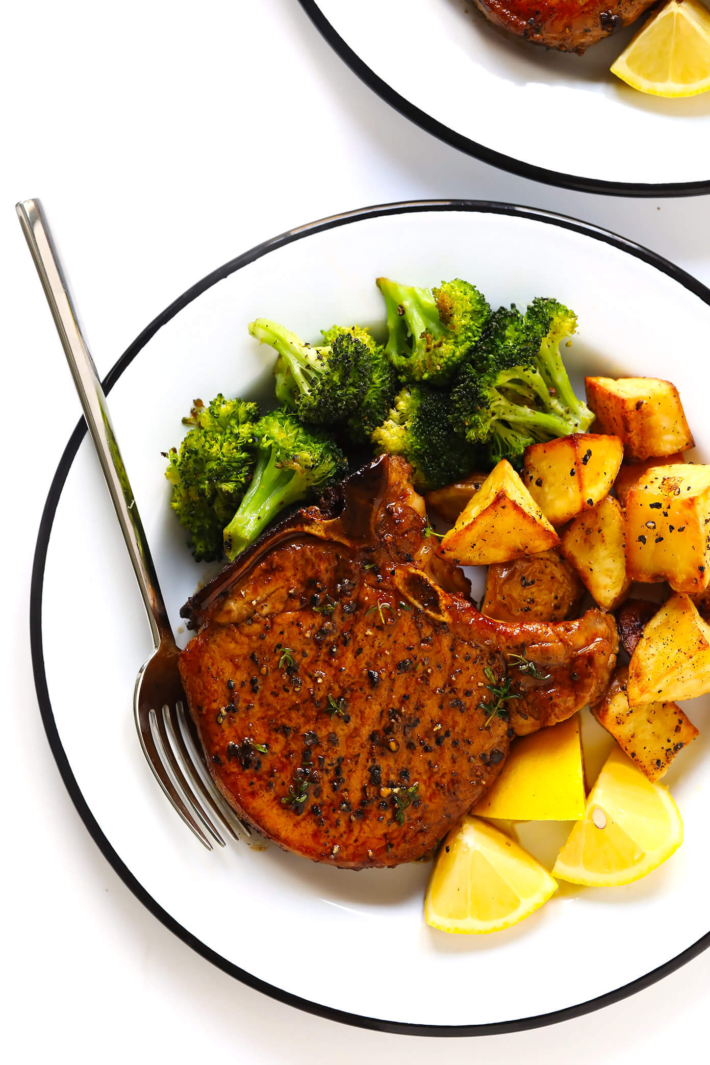 pork chops recipe baked oven easy dinner side dish juicy tender quick perfectly inside