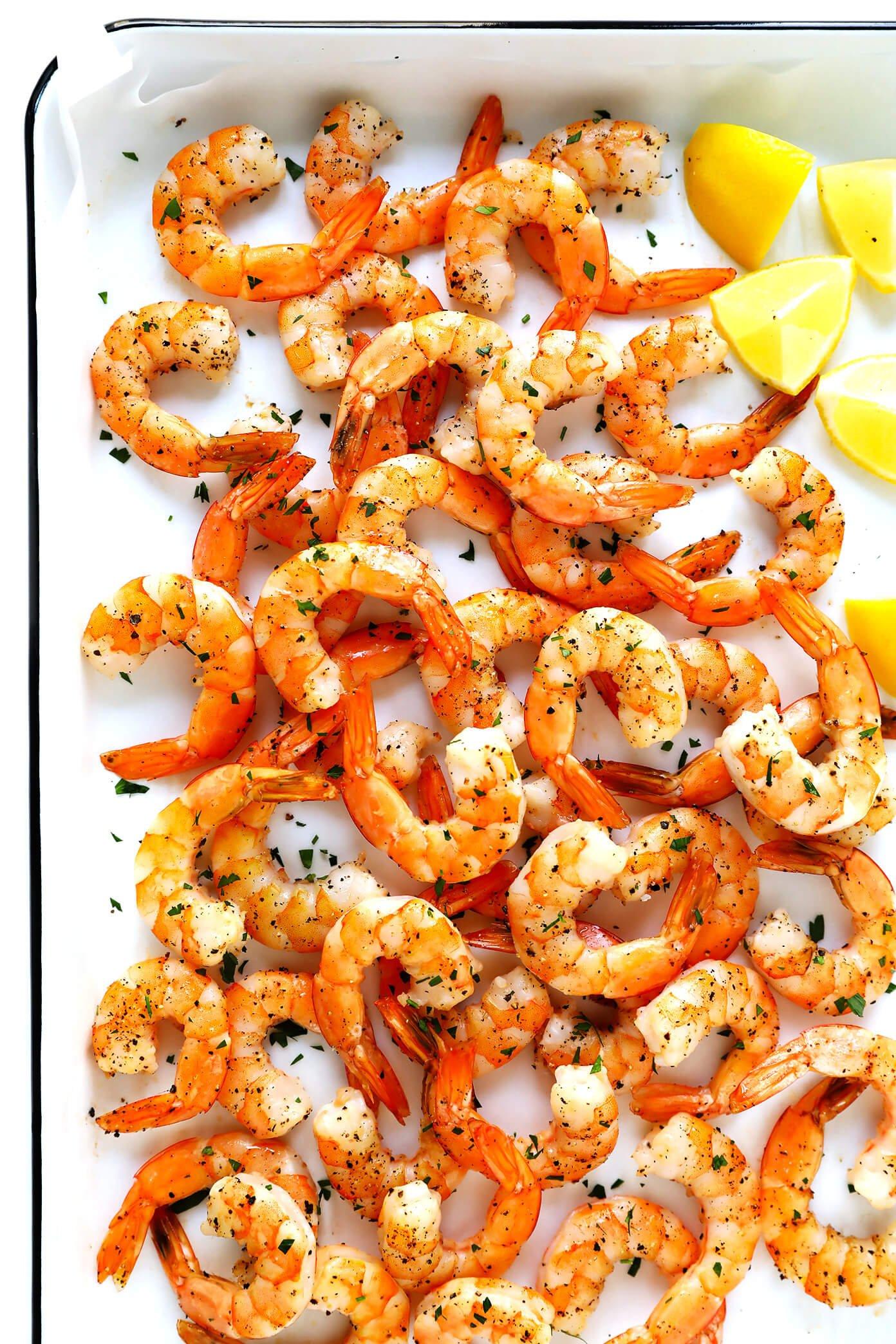 Oven Roasted Shrimp with Lemon