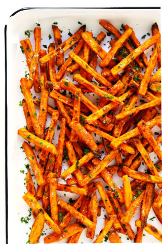 The BEST Crispy Baked Sweet Potato Fries Recipe