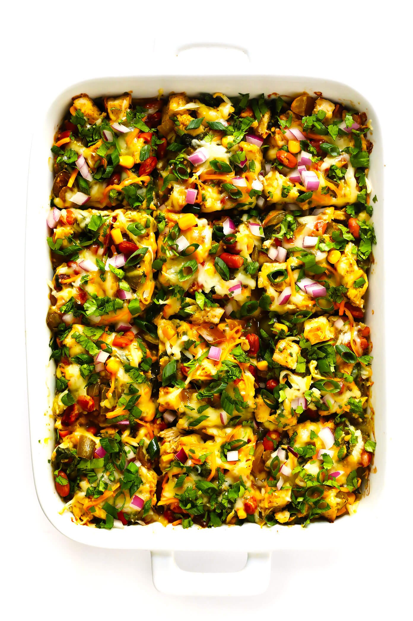 Green Chicken Enchilada Casserole Recipe