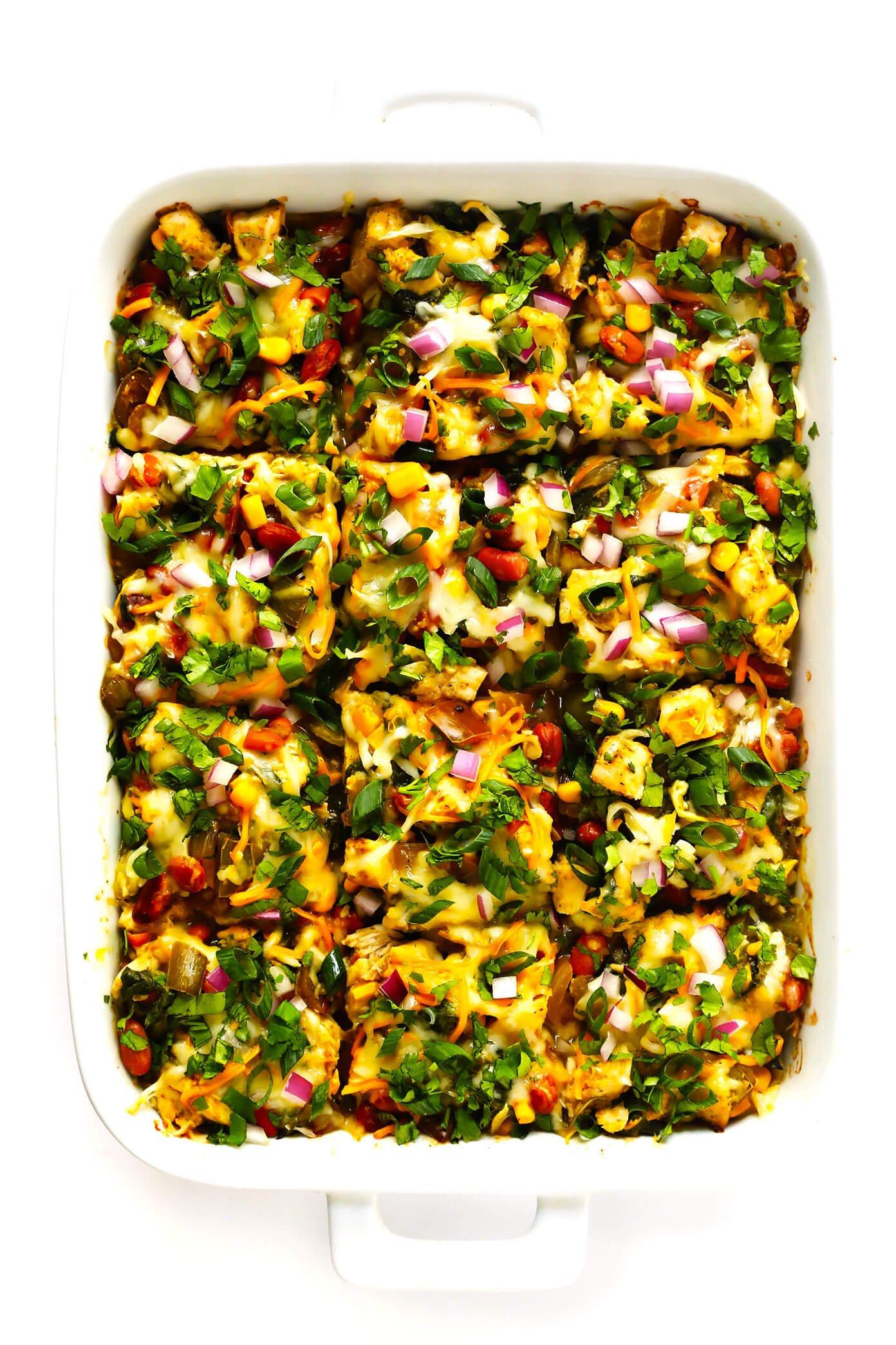 Green Chicken Enchilada Casserole Recipe