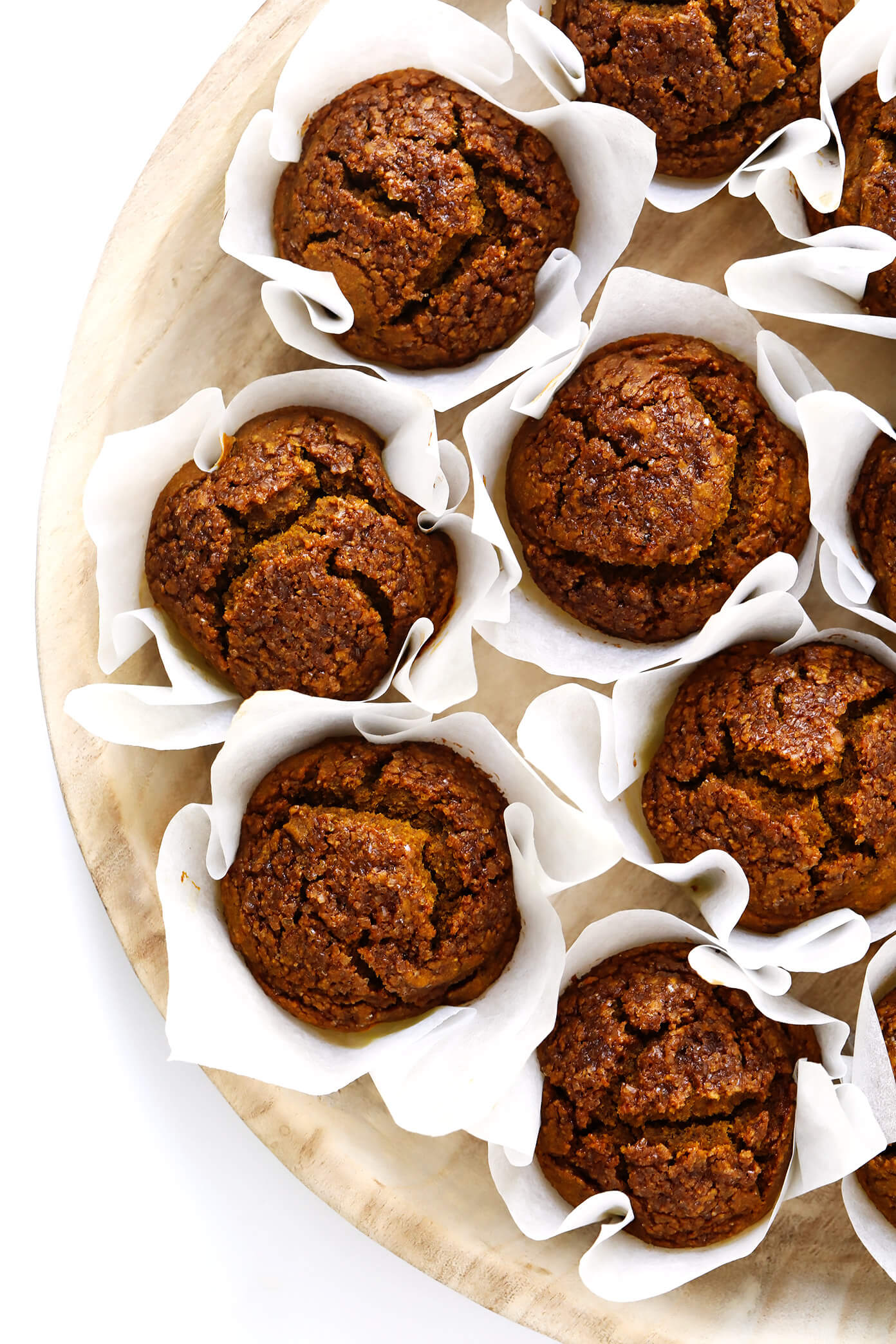 Healthy Pumpkin Muffins with Parchment Liners