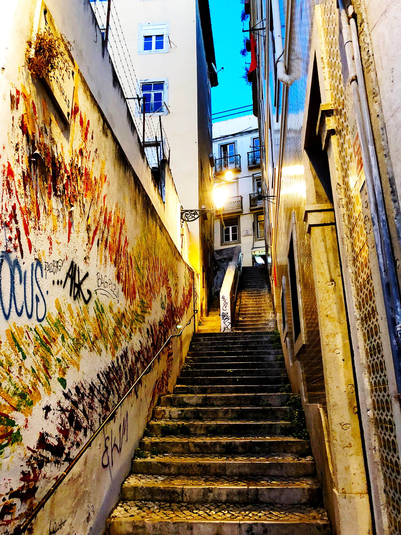 Stairs of Lisbon Portugal