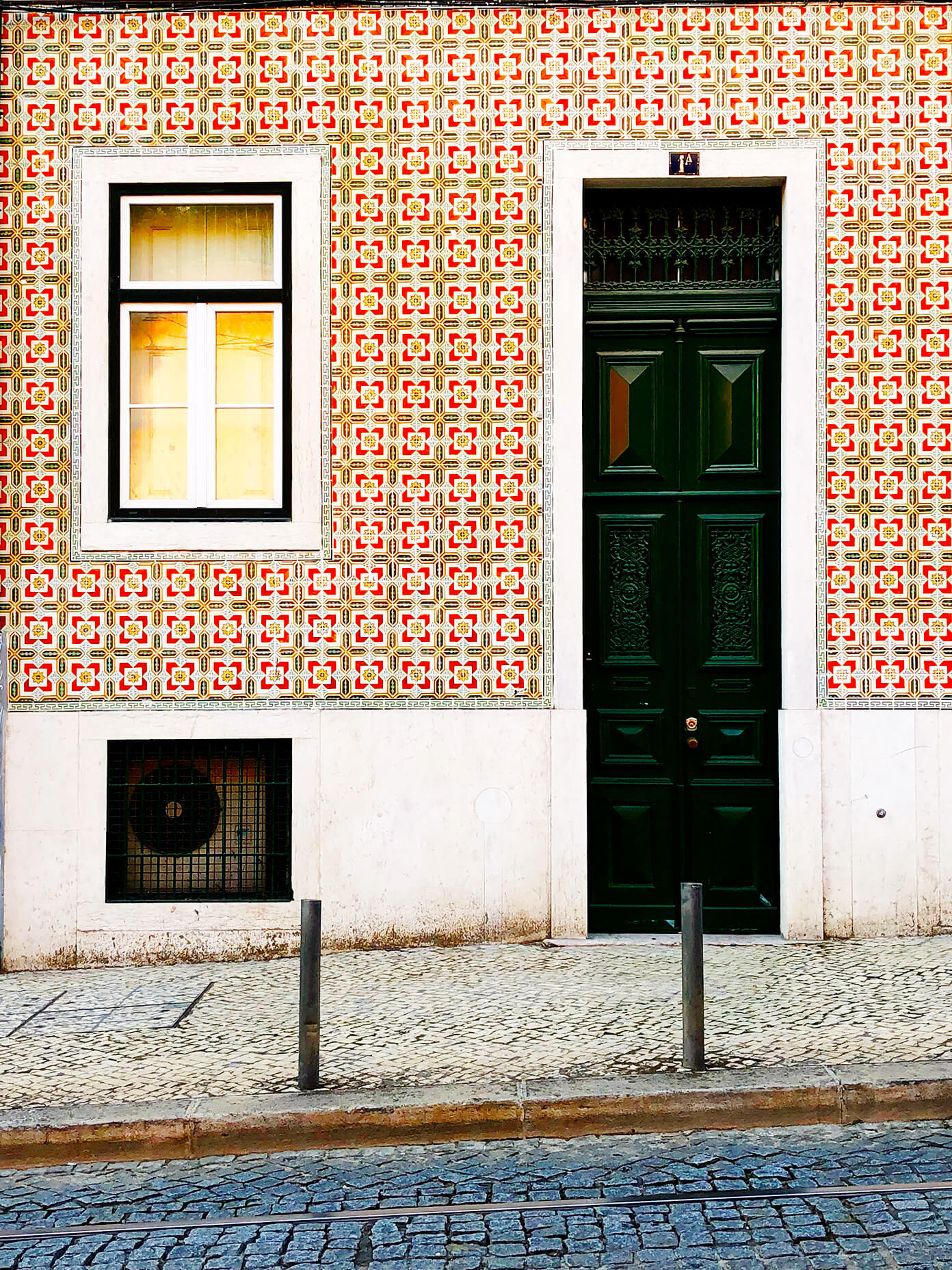 Red tile house in Lisbon