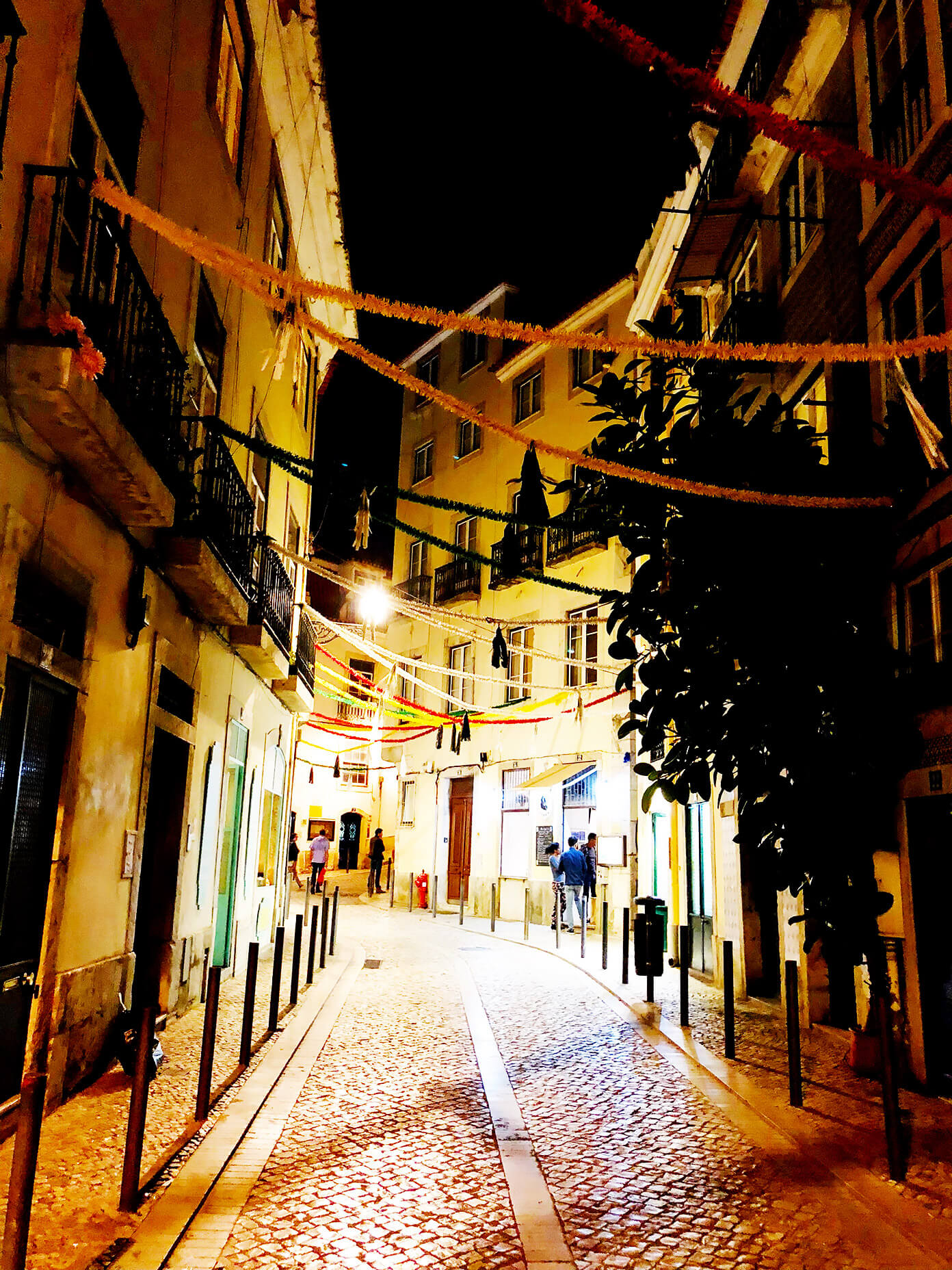 Night in Lisbon Portugal