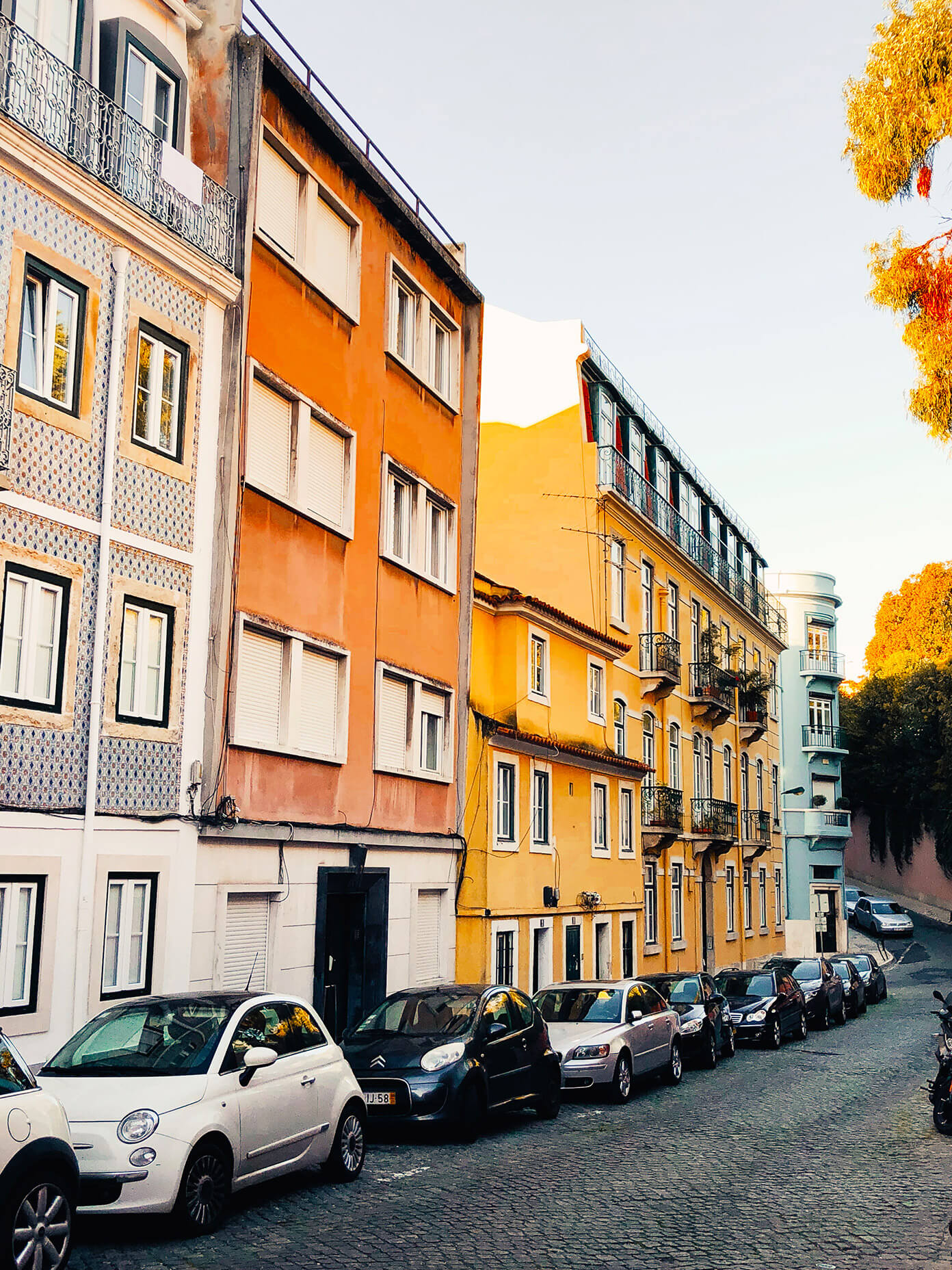 Colorful houses in Lisbon