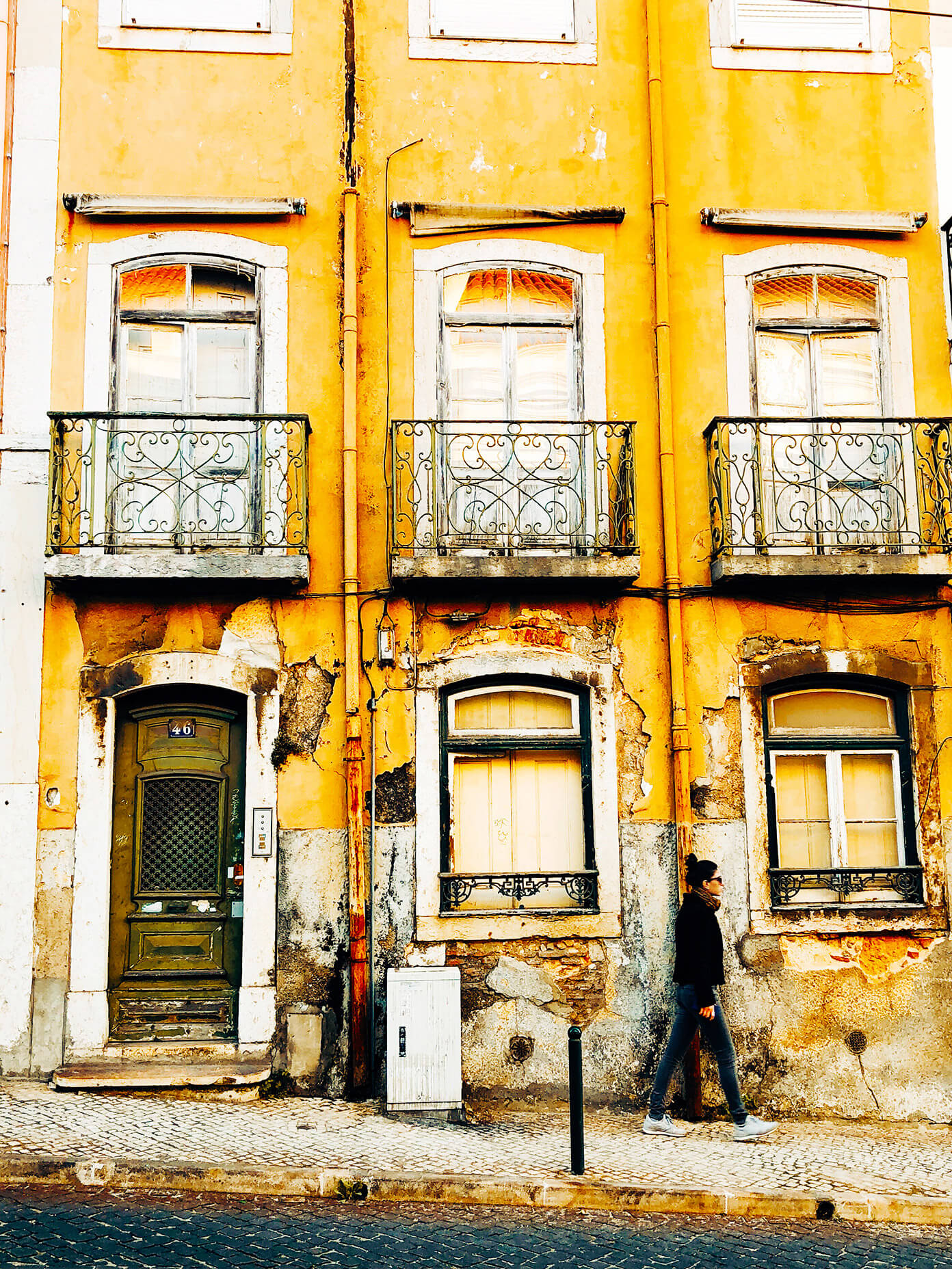 Yellow House in Lisbon