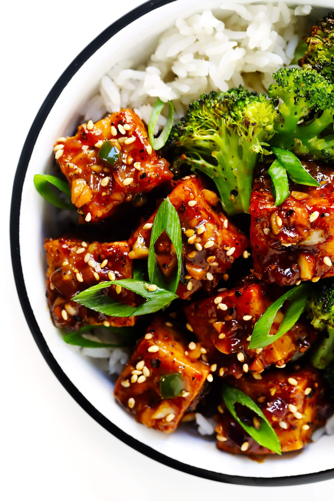Black Pepper Garlic Tofu with Roasted Broccoli