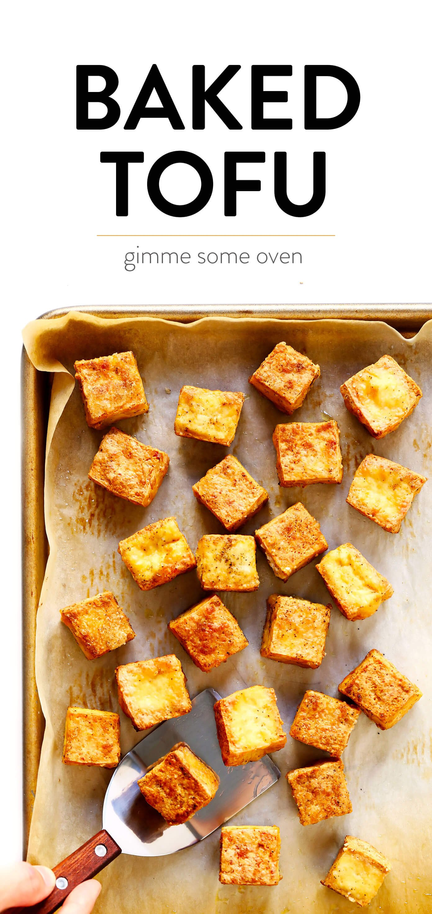 Easy Crispy Baked Tofu Recipe | How To Bake Tofu