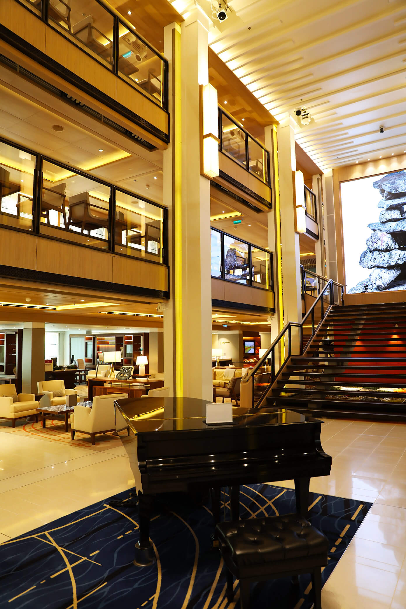The Atrium on Viking Star | Viking Ocean Cruise