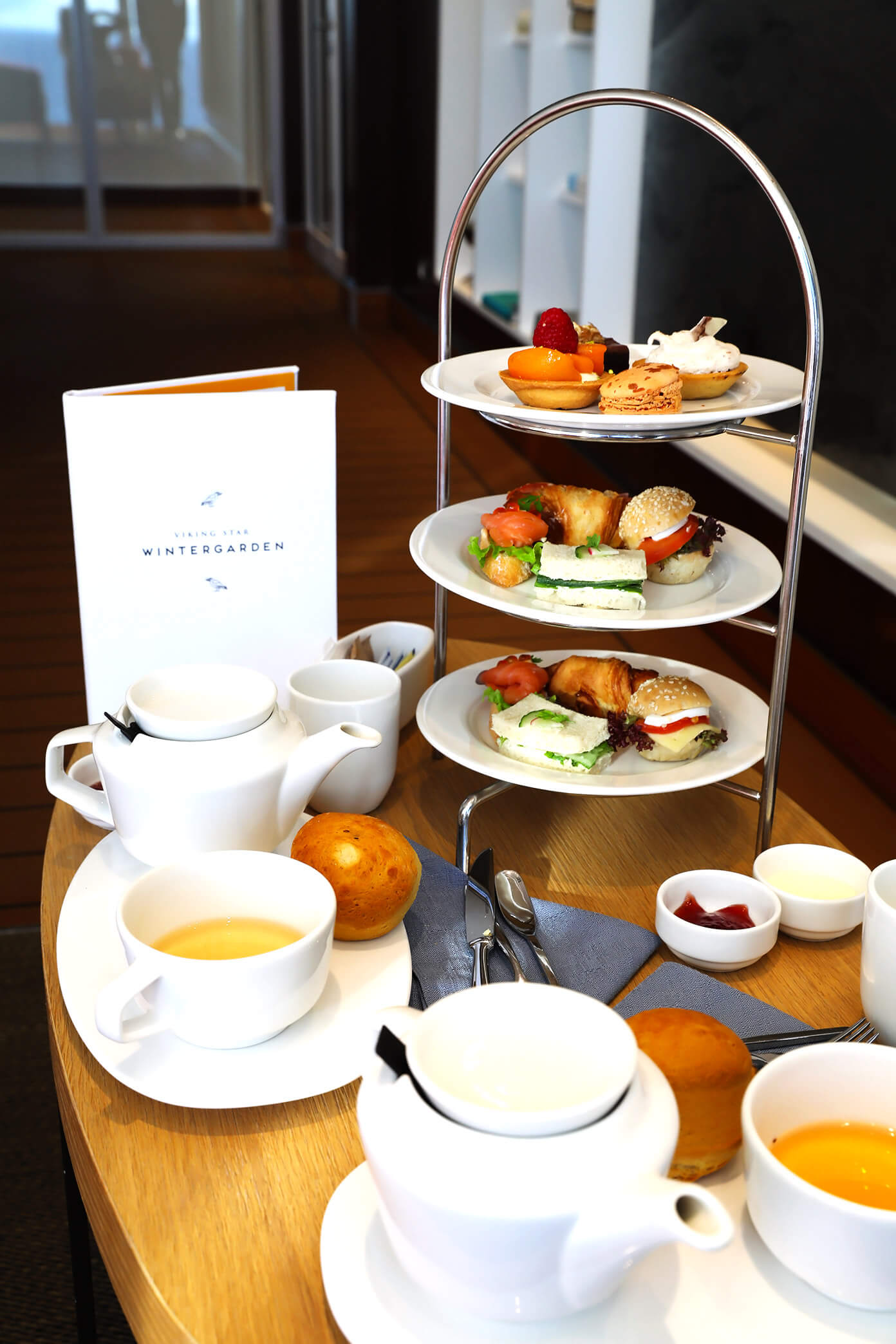 Wintergarden High Tea | Viking Star | Viking Ocean Cruise