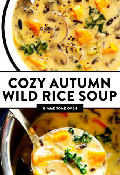 Cozy Autumn Wild Rice Soup