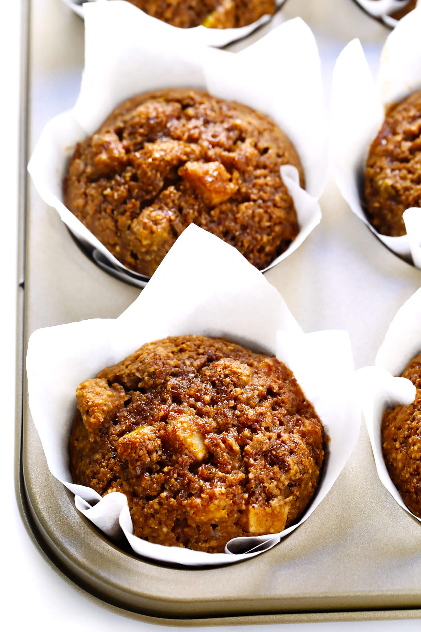 Healthy Apple Muffins Recipe | Gimme Some Oven