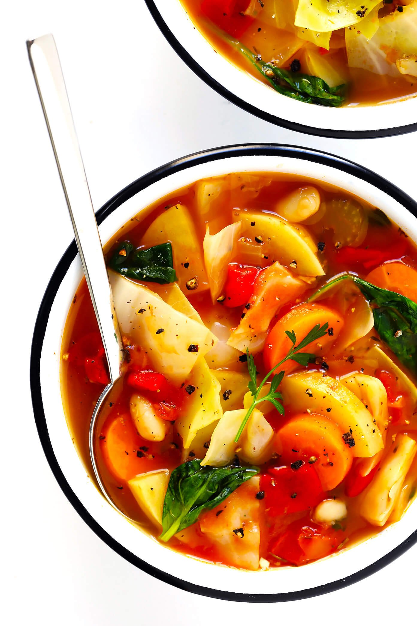 Cabbage Soup from Gimmie Some Oven on foodiecrush.com