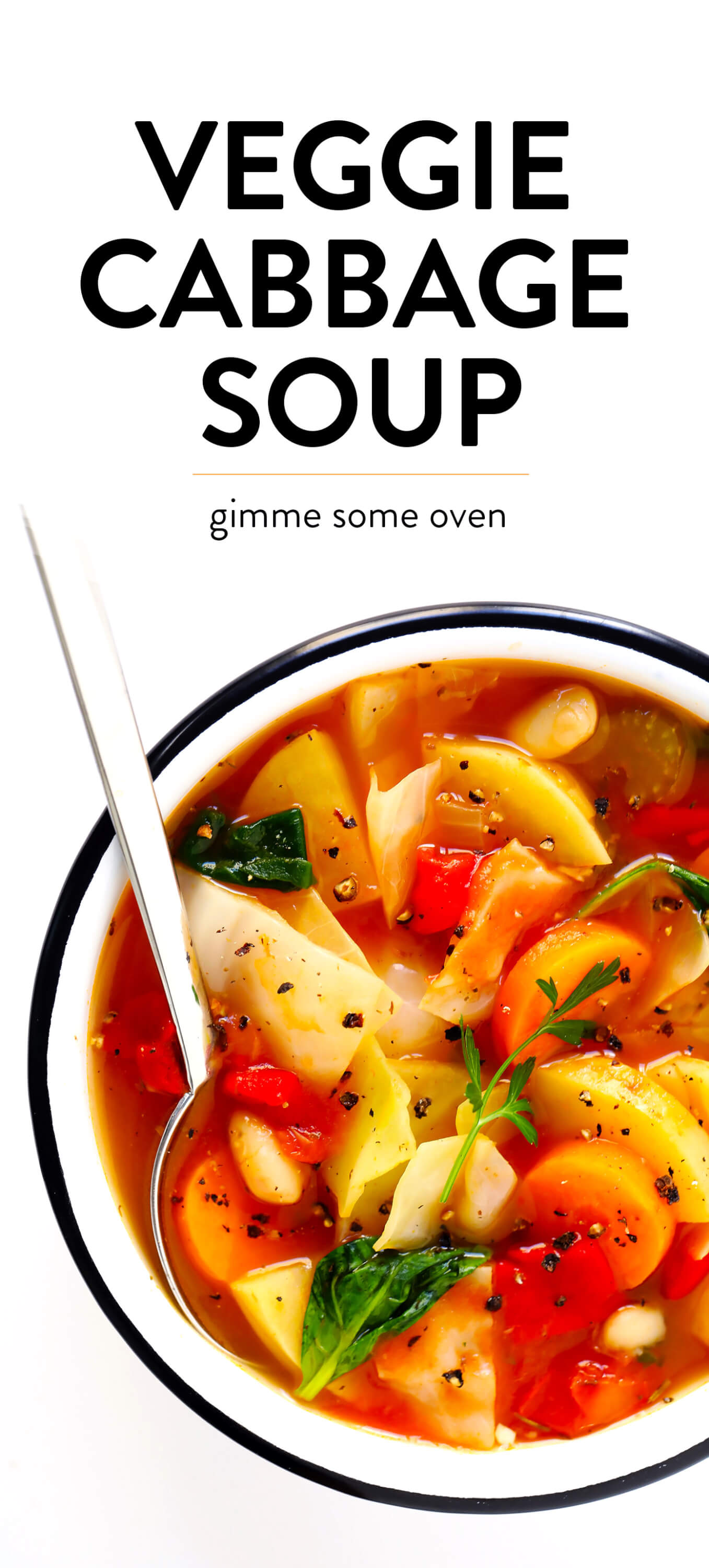 Vegetarian Cabbage Soup Recipe | Gimme Some Oven