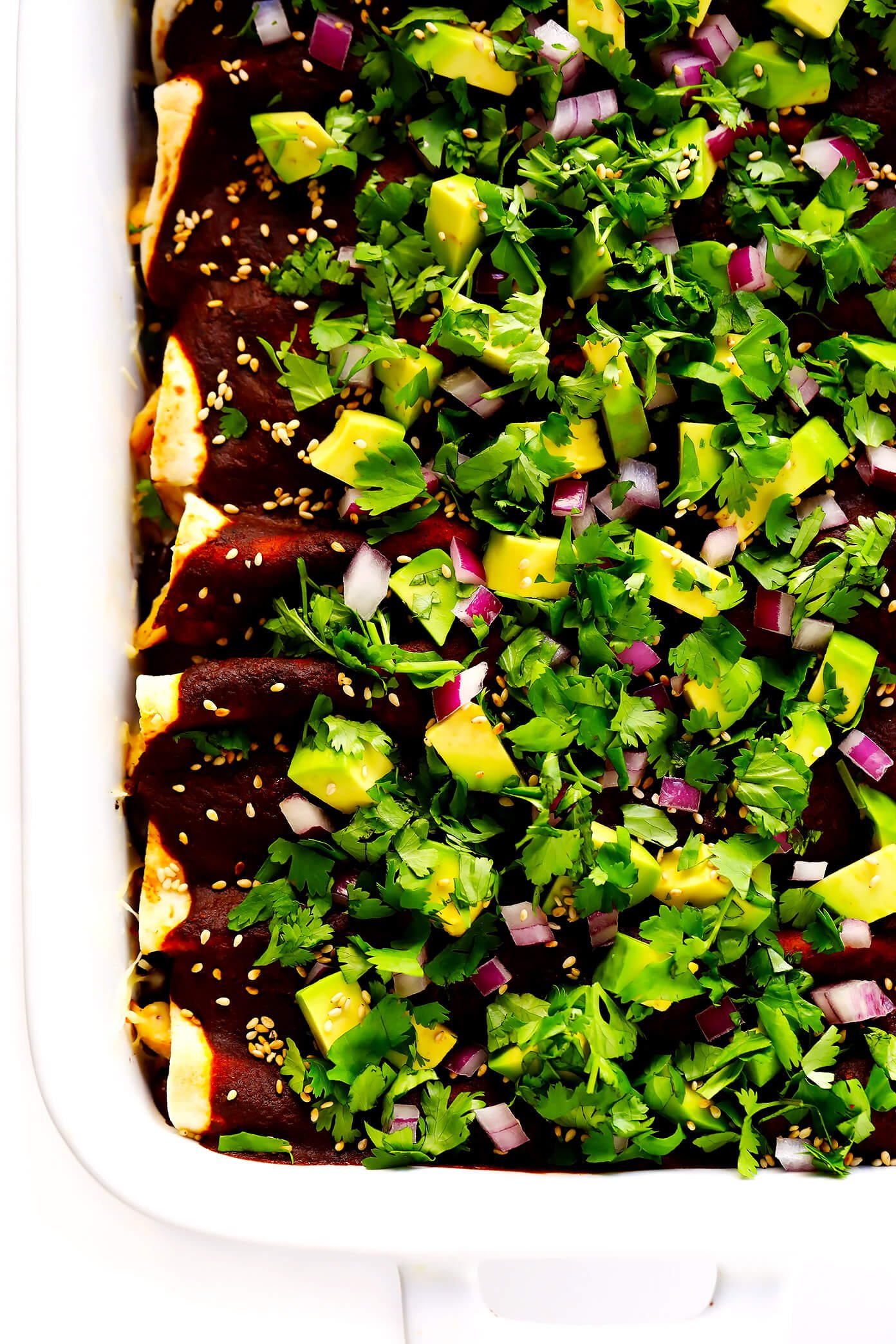 Holy Mole Enchiladas | Made with chicken or your choice of vegetarian fillings