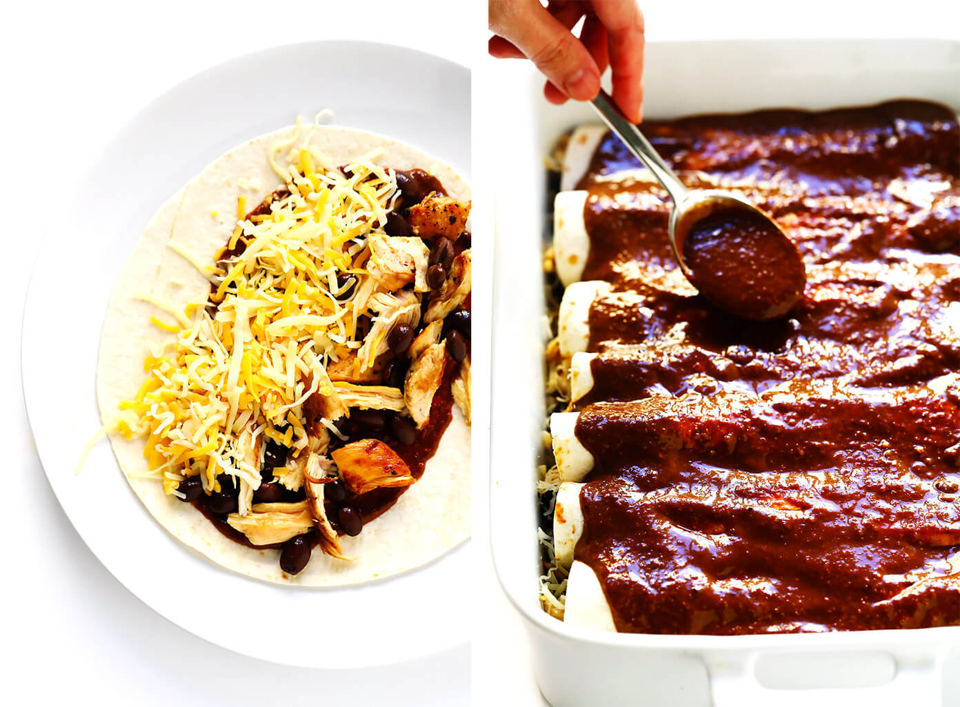 How To Make Mole Enchiladas