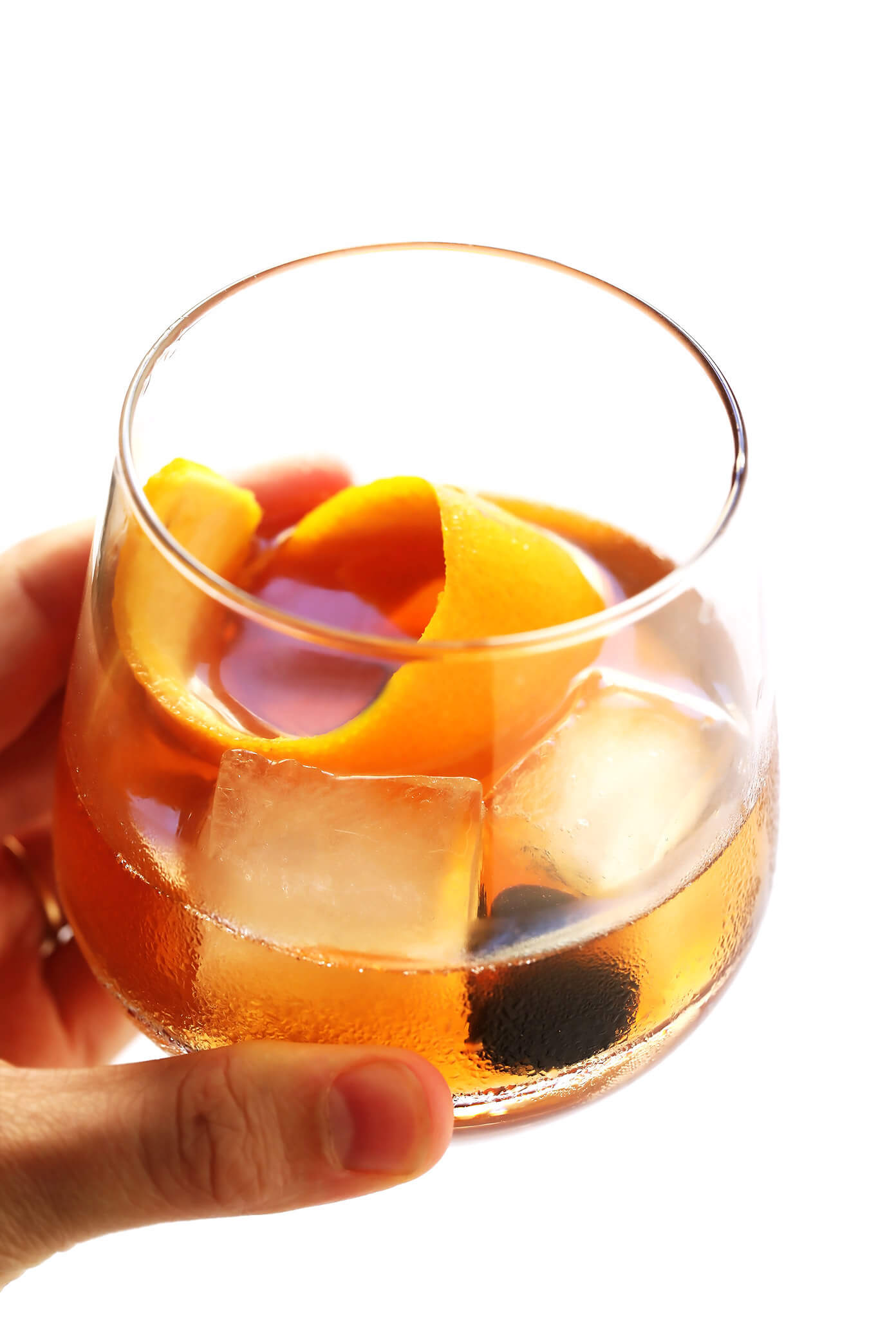 Maple Old Fashioned Cocktail Drink Recipe
