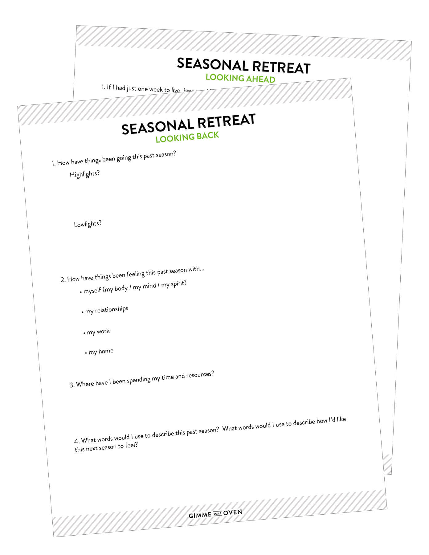 Seasonal Mini-Retreat Questions | Available as a free download
