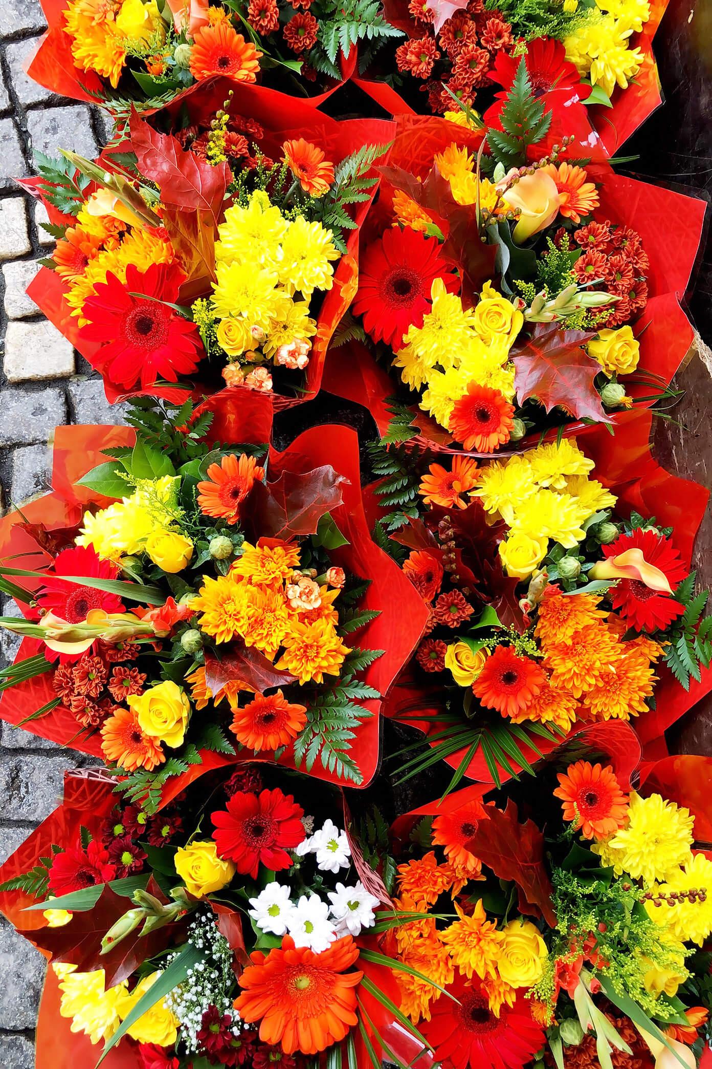 Flowers in an Outdoor Market, Stockholm, Sweden