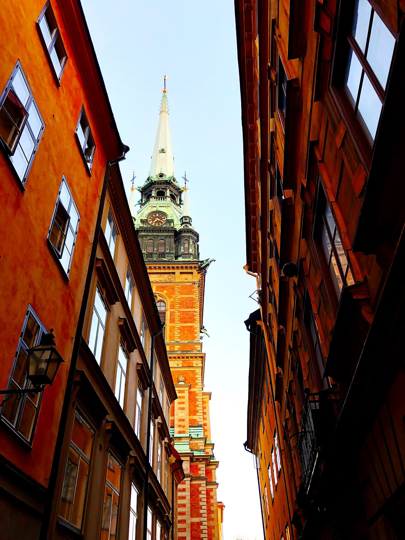 Church Spire in Gamla Stan, Stockhom, Sweden
