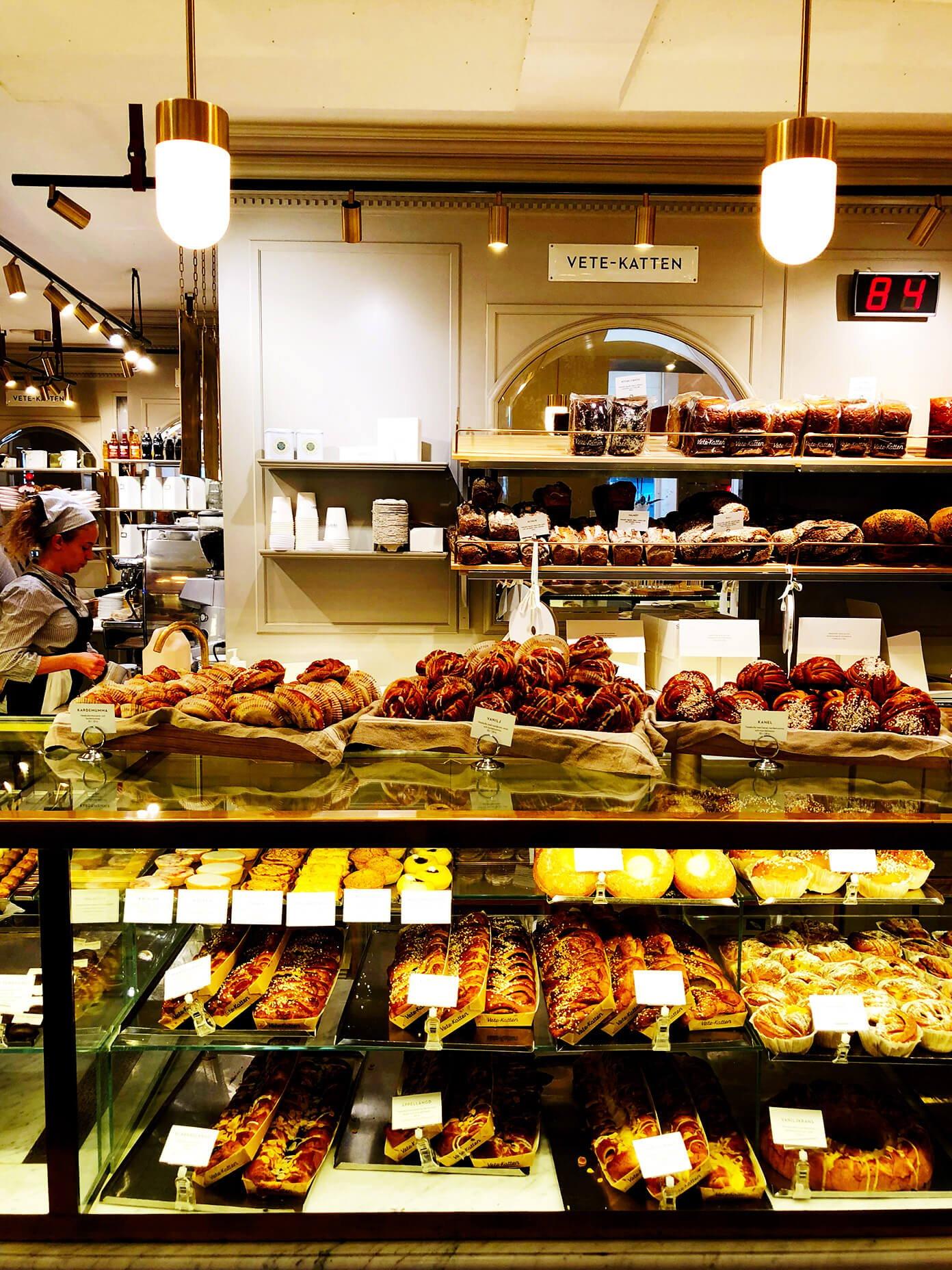 Exquisite baked goods from Vete-Katten in Stockhom, Sweden