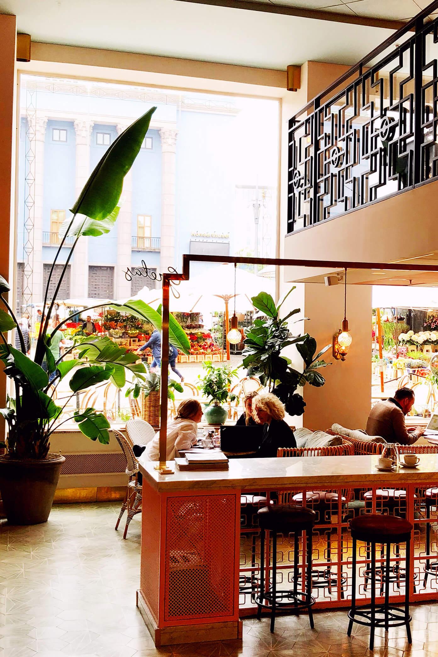 Coffe at Greta's in Stockholm, Sweden